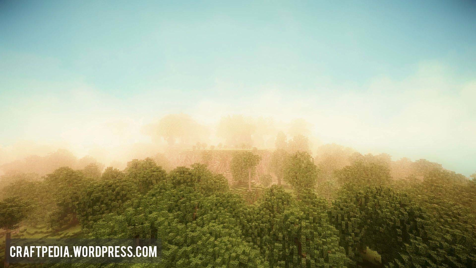 Foggy Woods Minecraft HD High Definition Blue Ray Wallpaper Desktop  Background Herobrine Biome