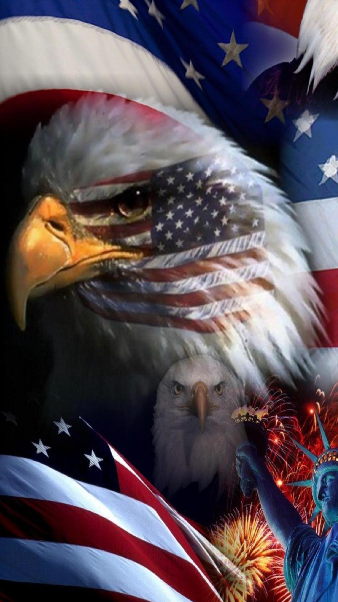 USA Flag Eagle iPhone 6 Plus Wallpaper (1080×1920)