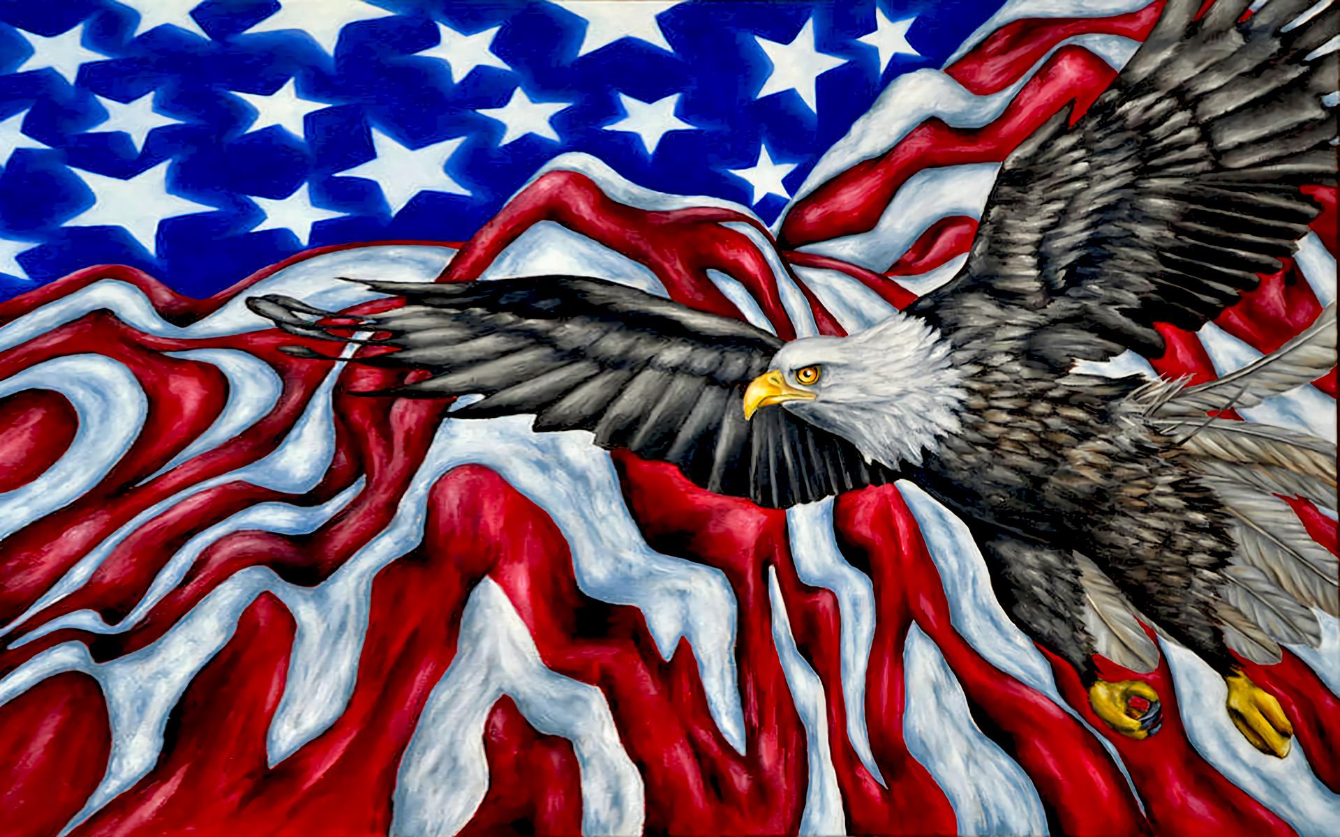 American Flag Artistic Bald Eagle Eagle Flag Wings · HD Wallpaper    Background ID:783236