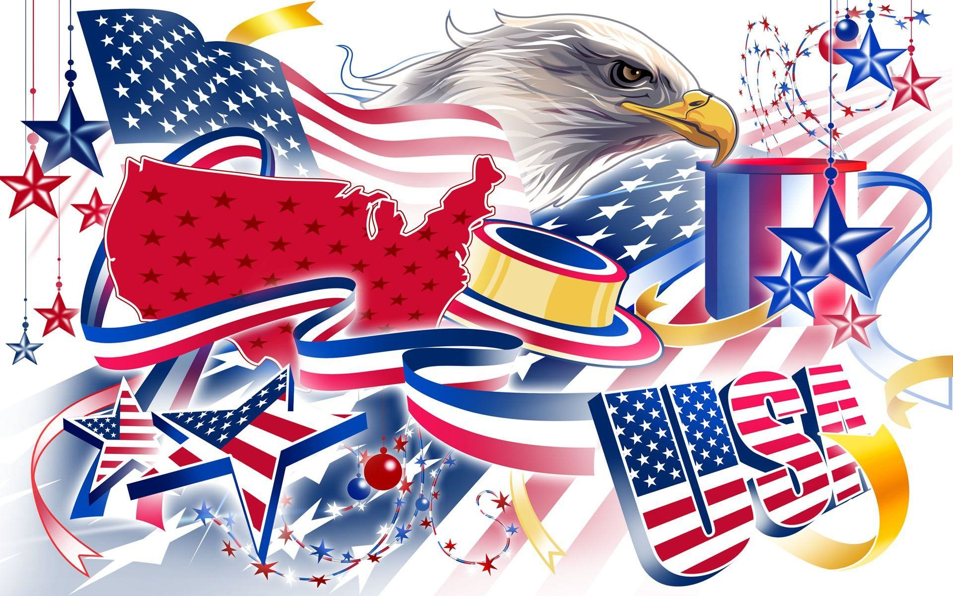 American Flag Day Eagle Wallpaper Wide or HD   Digital Art Wallpapers
