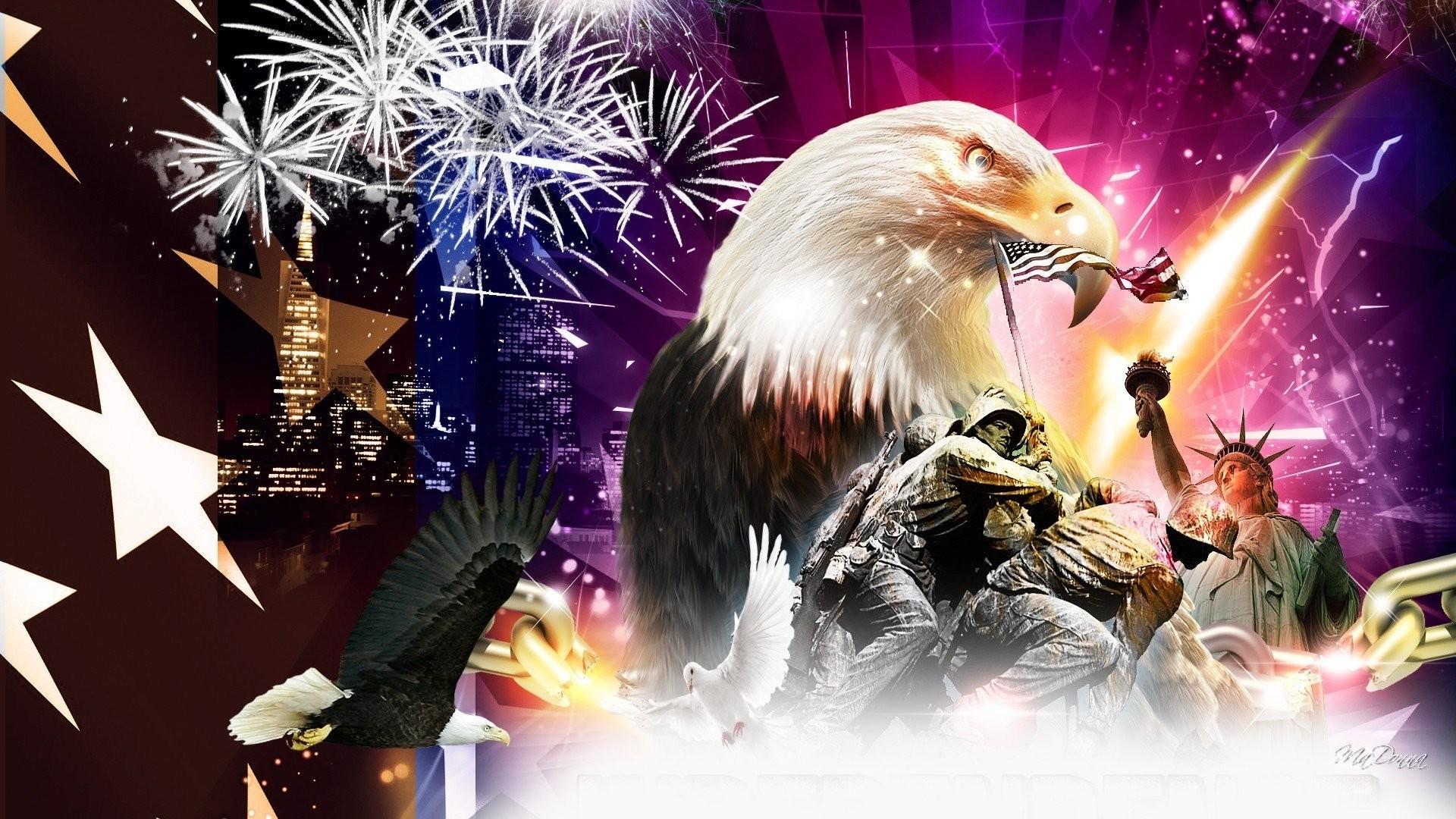 4th july fireworks eagle mood america usa wallpaper     421613    WallpaperUP