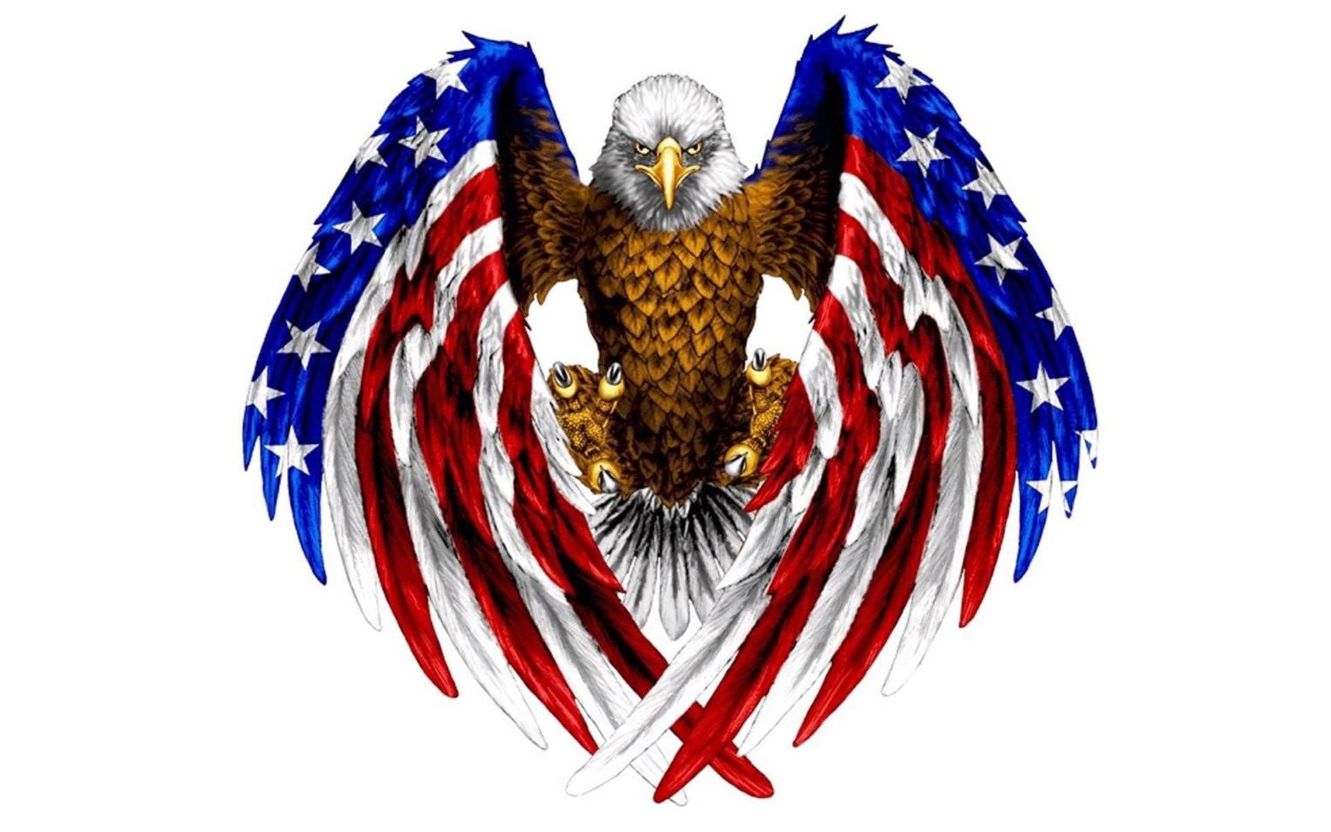 Animal – Bald Eagle Artistic Wings Eagle Flag American Flag Wallpaper