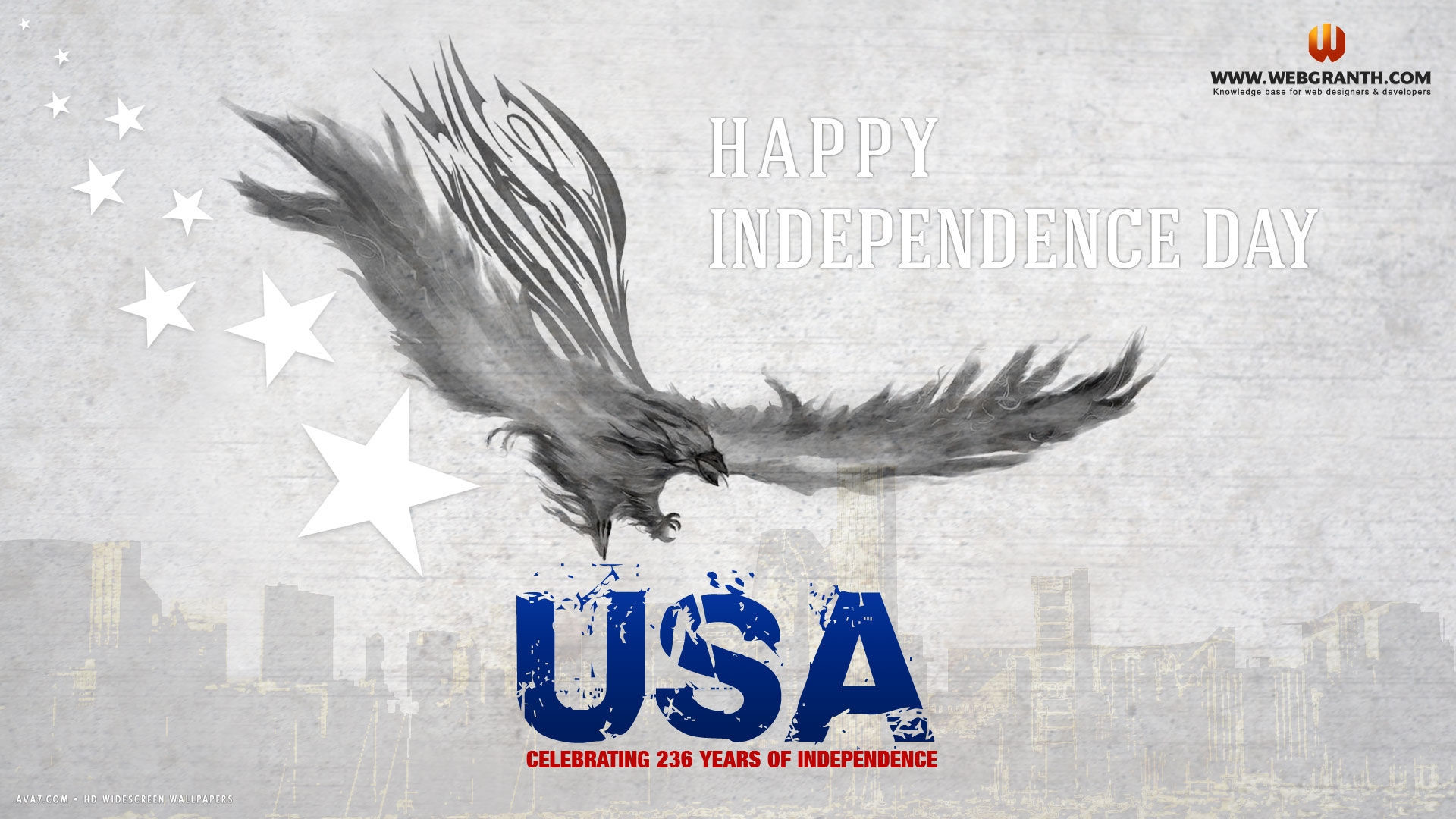 … happy independence day usa eagle stars abstract holiday