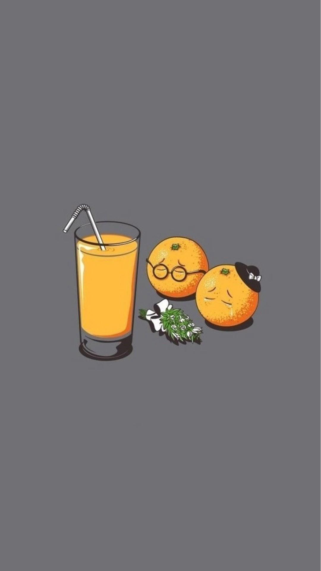 Orange Juice Funeral Funny #iPhone #6 #plus #wallpaper
