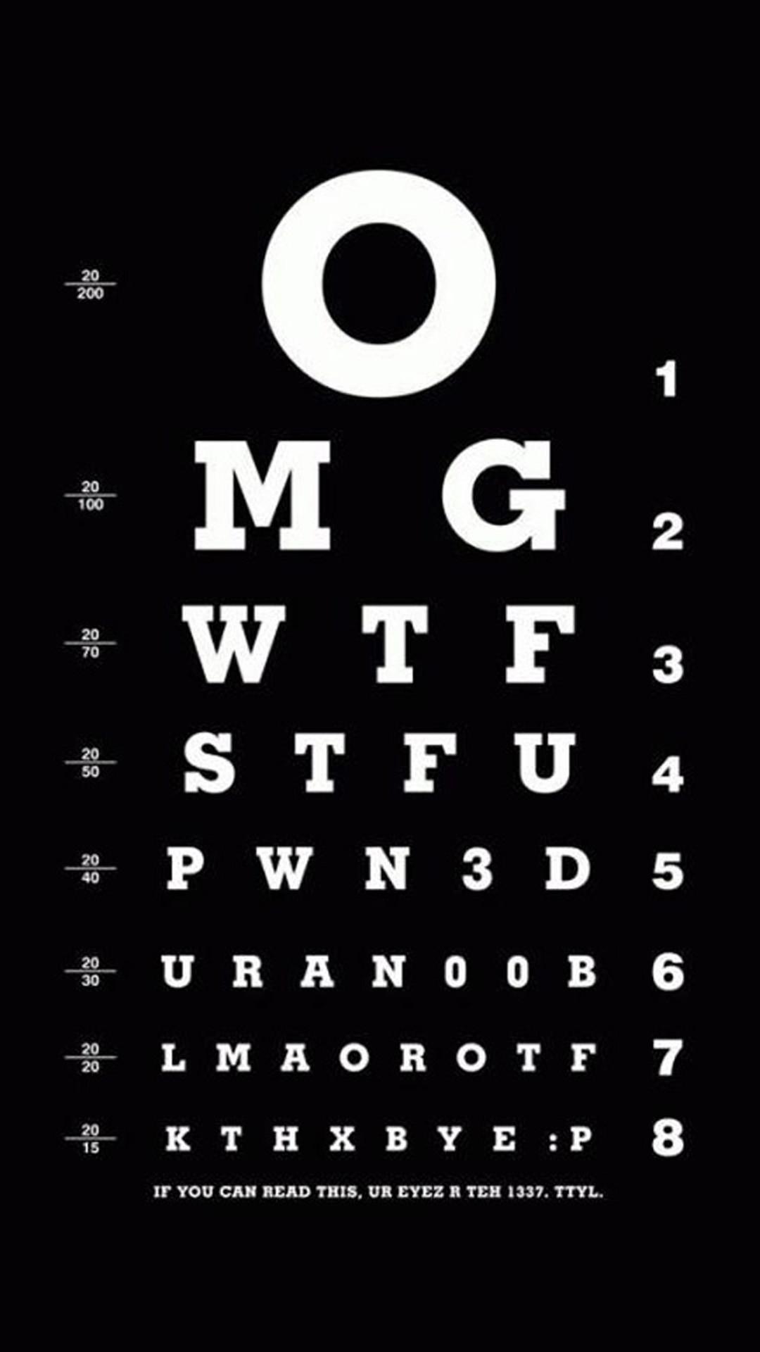 Funny Eye Exam HD Wallpaper iPhone 6 plus