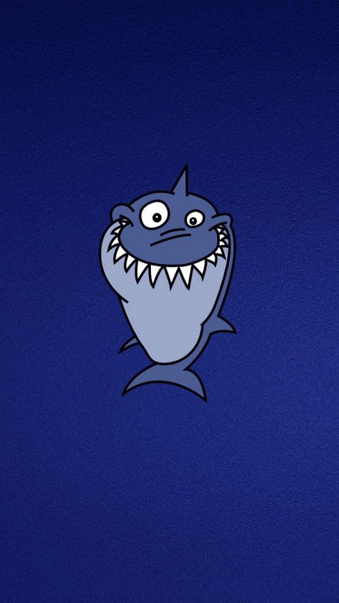 Funny Funny Shark HD Wallpaper iPhone 6 plus