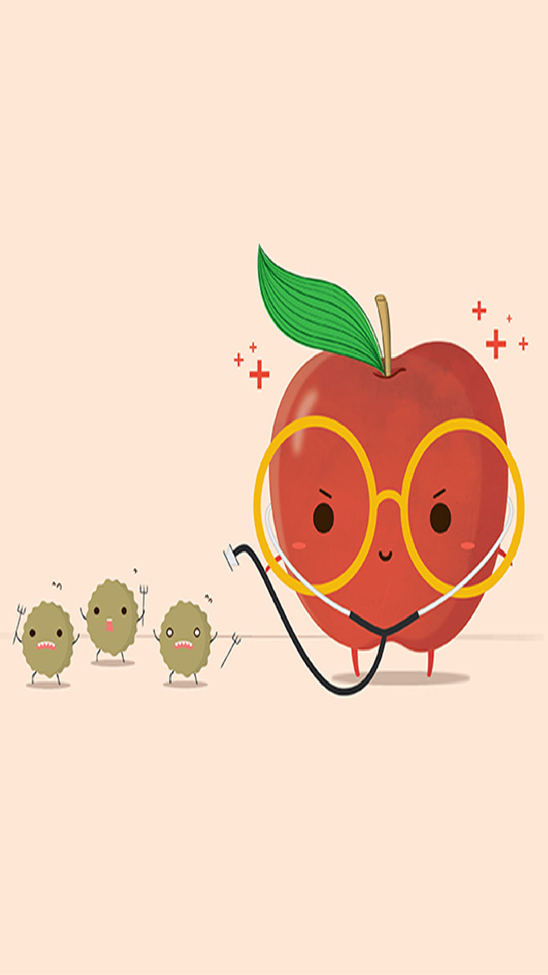 Tap image for more cute funny iPhone wallpaper! Apple – @mobile9    Wallpapers for