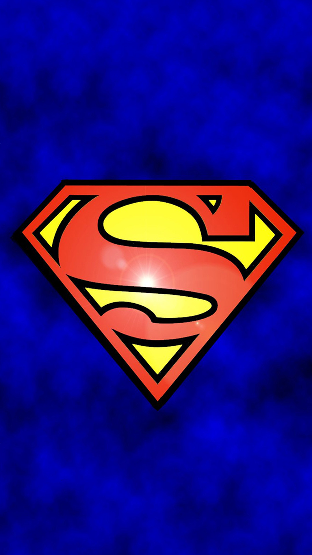 Abstract Funny Superman Logo iPhone 6 wallpaper