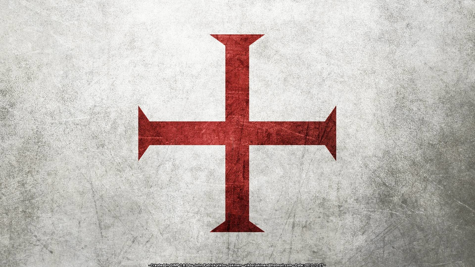 Flag of the Knights Templar (Several Resolutions) by .