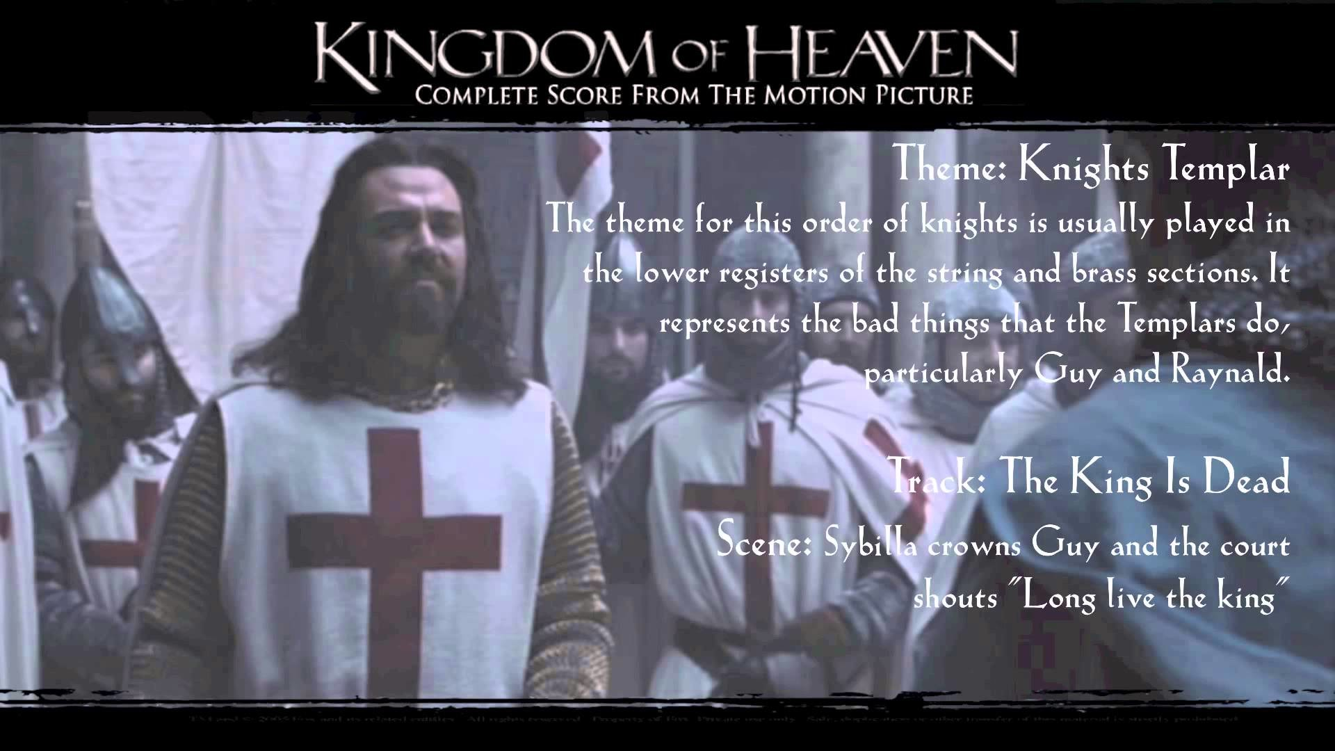 Kingdom of Heaven Soundtrack Themes – Guy and the Knights Templar