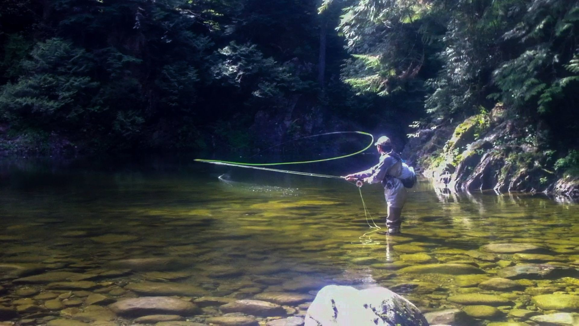 Wallpapers For > Fly Fishing River Wallpaper