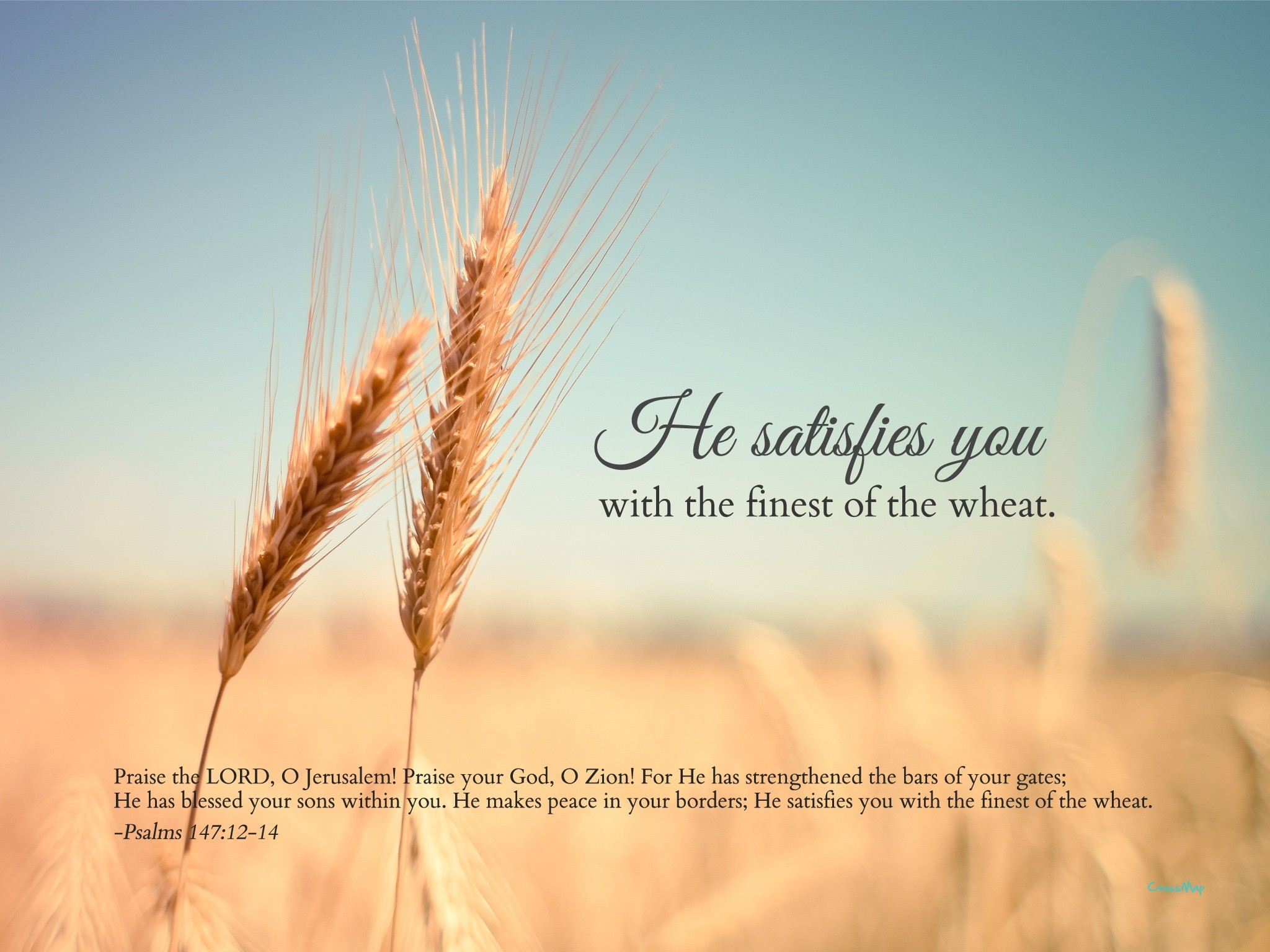 He Satisfies You | Christian Photographs | Crossmap Christian Backgrounds  and Christian Wallpaper