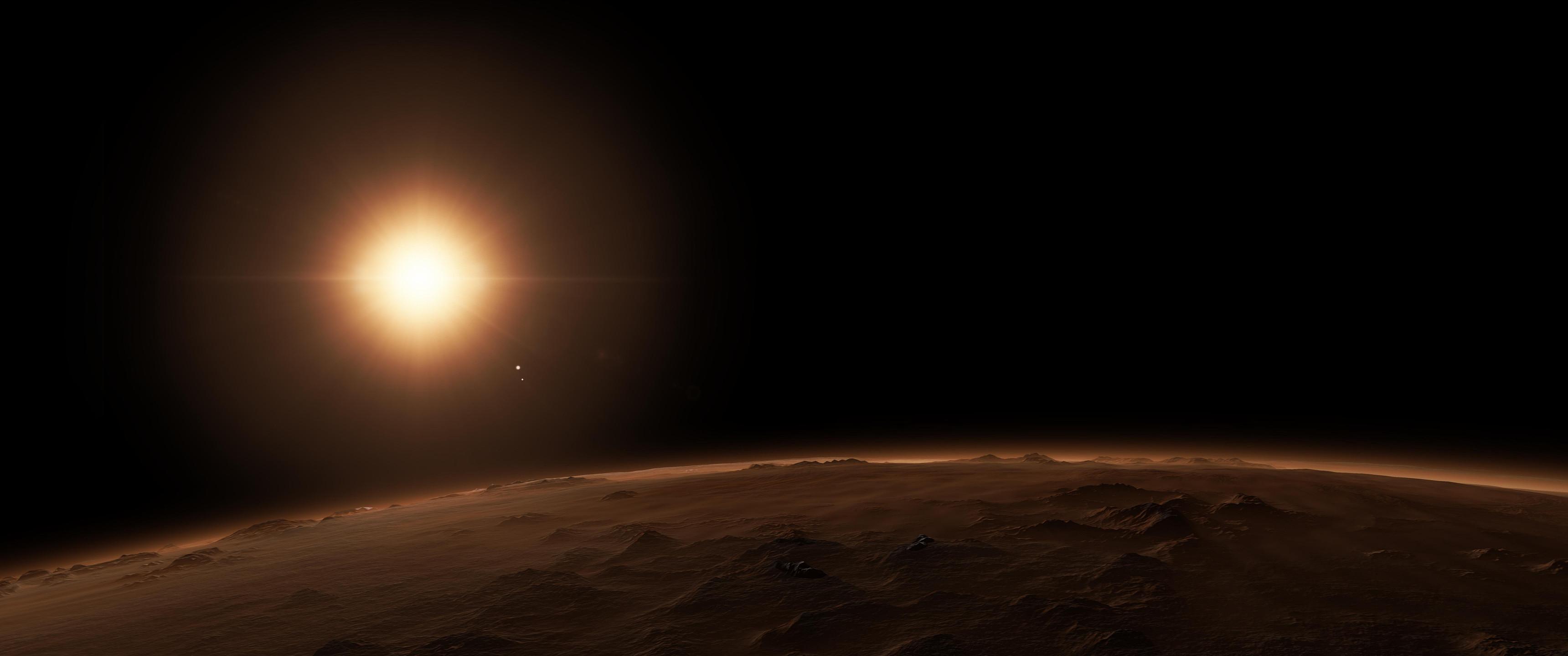Distant planet wallpaper [3440×1440] …