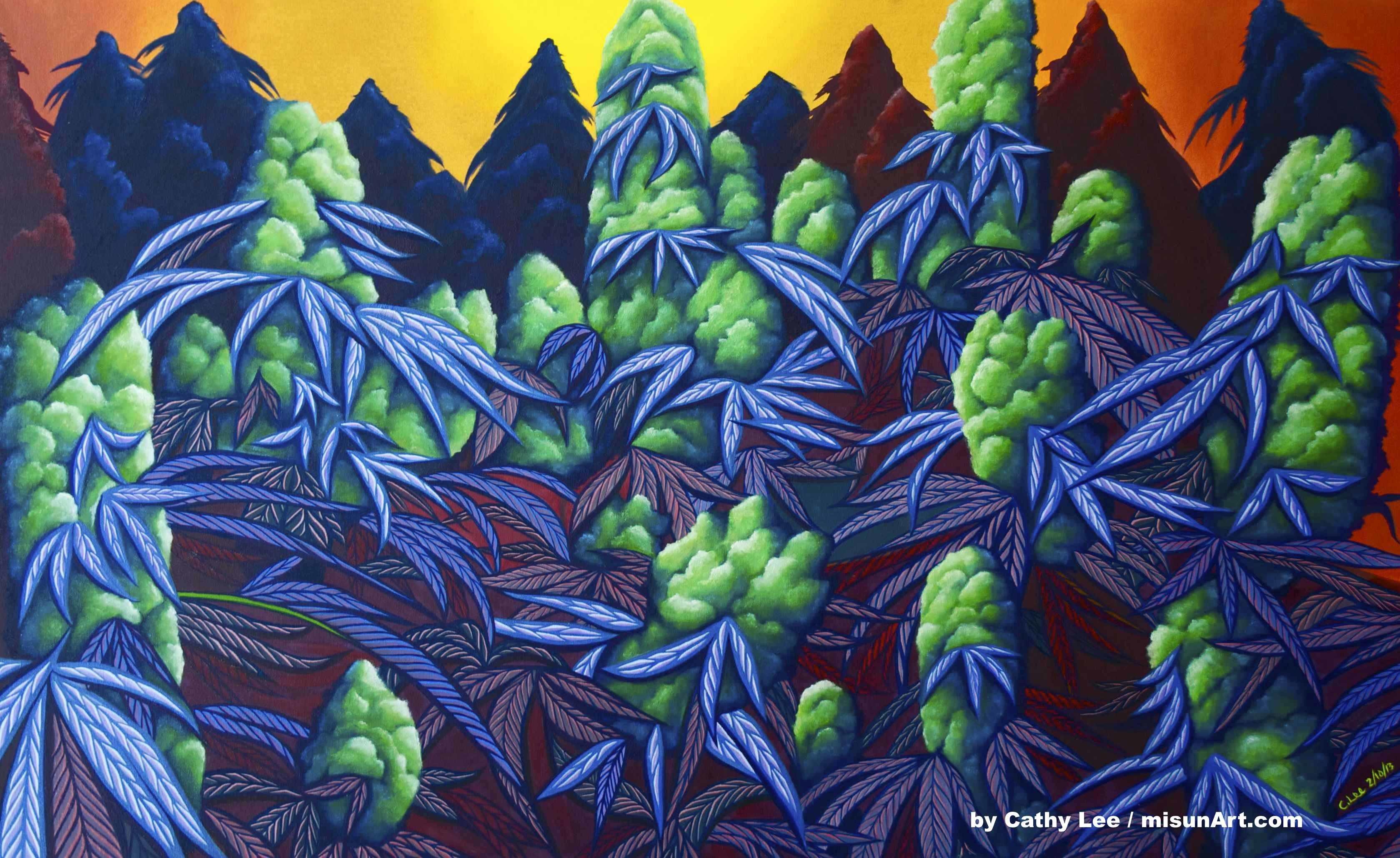 Cathy Lee – Featured Marijuana Artist – Stoner Artwork