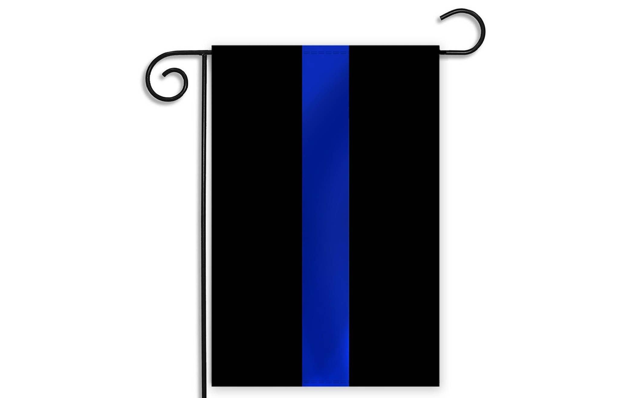 Thin Blue Line Garden Flag – 12.5 x 18 Inches