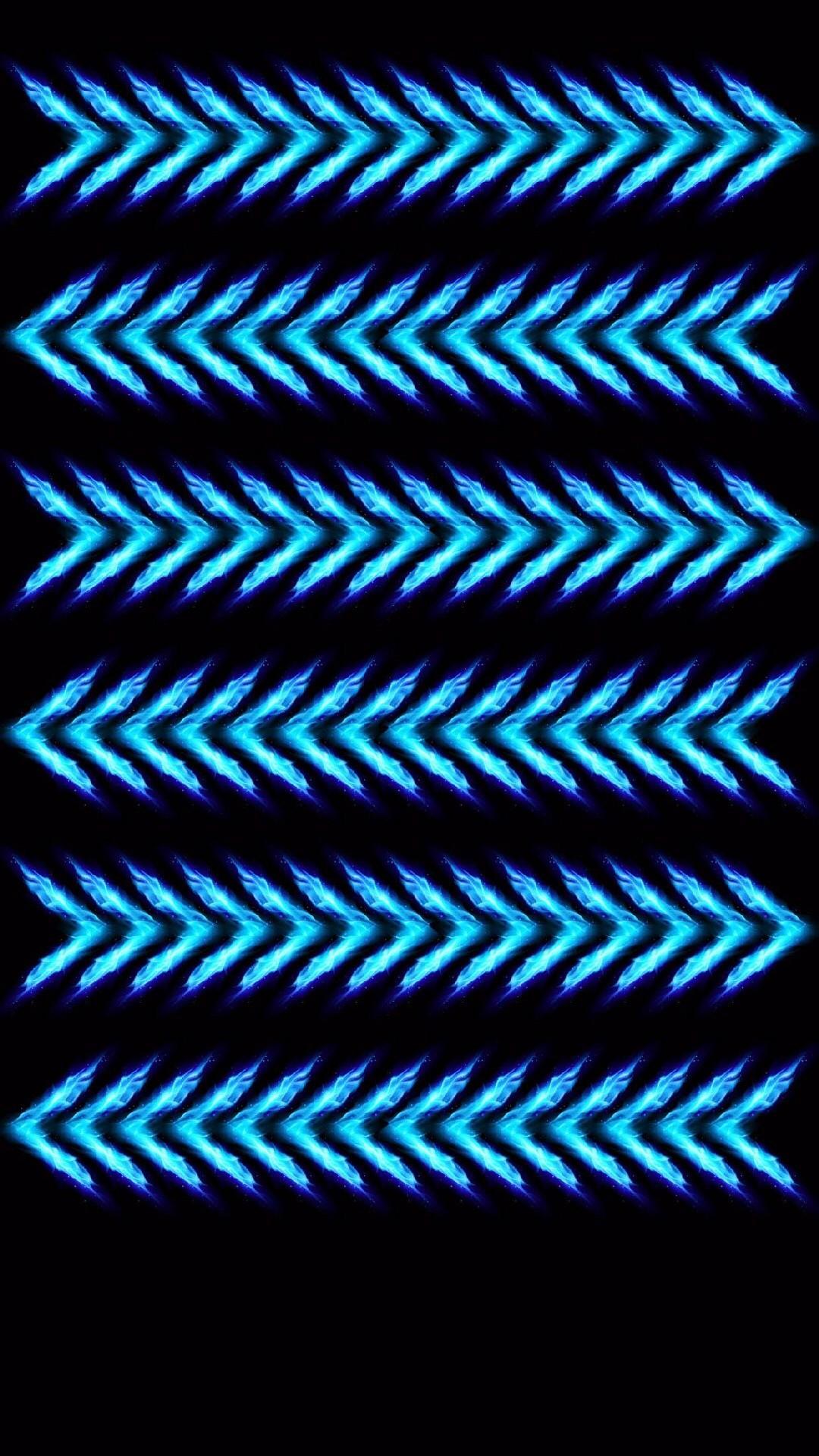 Shelves Simple Arrows Black Blue Minimalistic HD