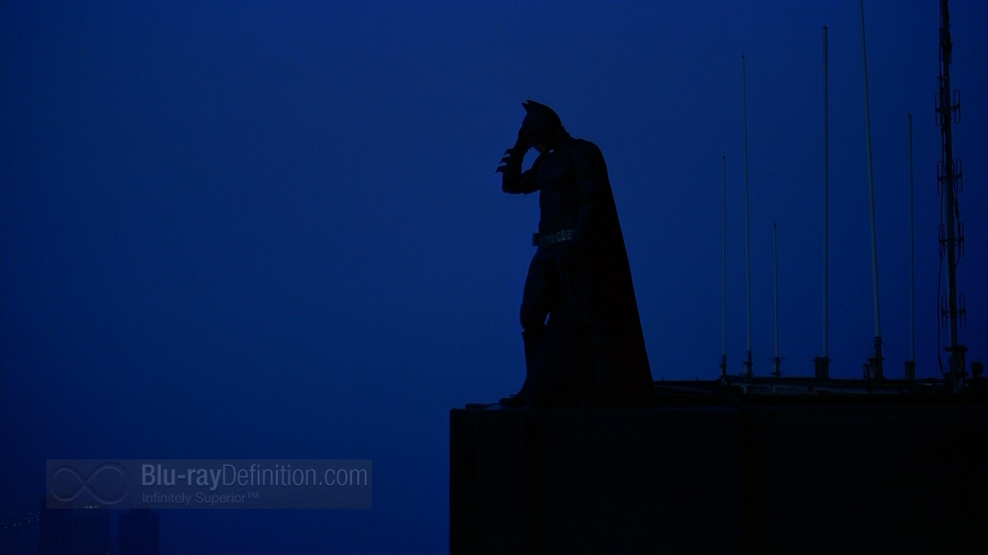 Dark Knight Thin Blue Line US Flag Patch