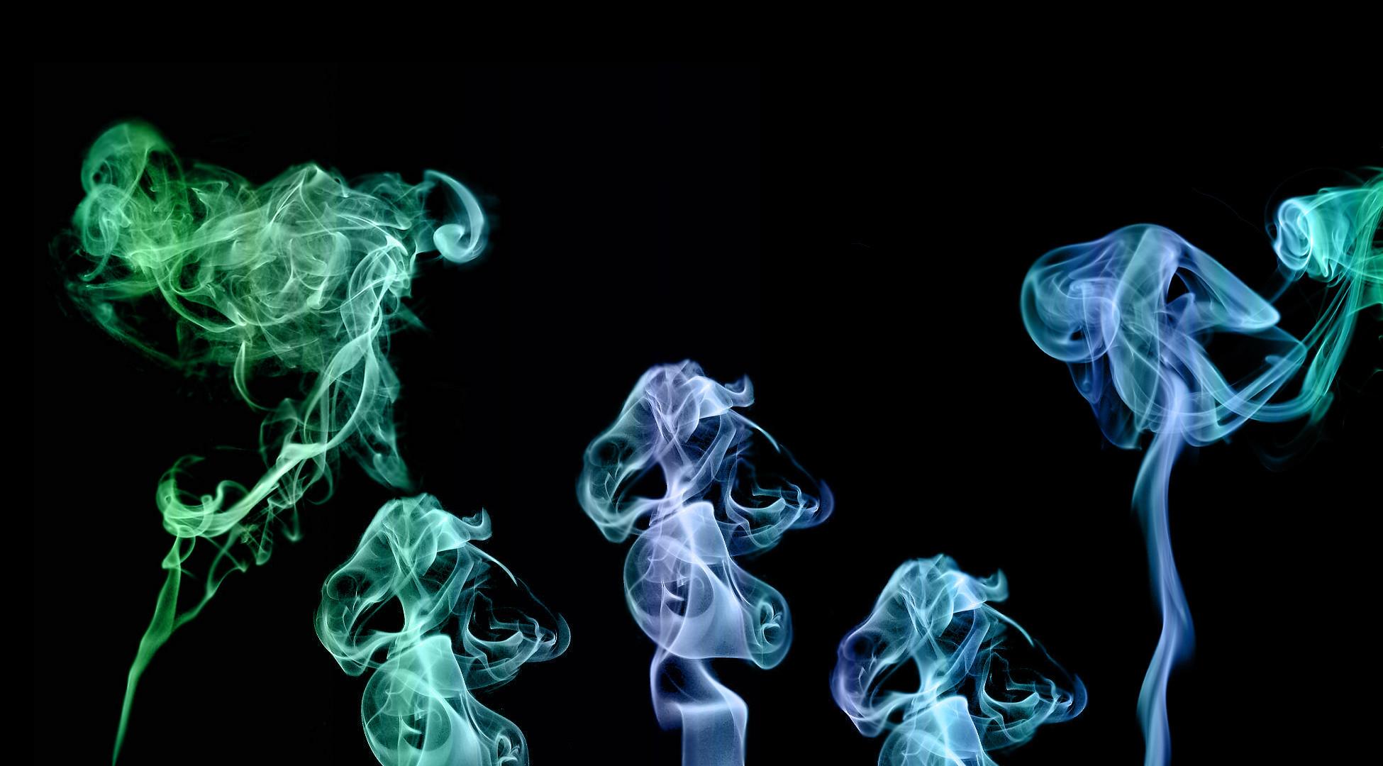Just a large desktop sized colorful smoke rising image.