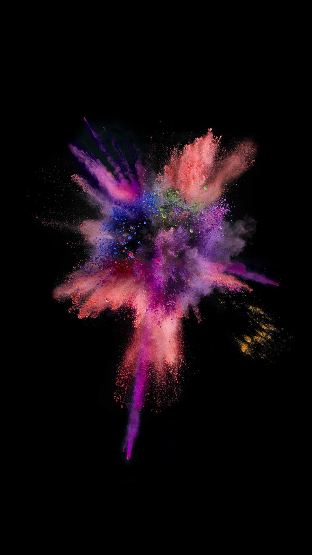 iOS9 Colorful Explosion Smoke Dark #iPhone #6 #wallpaper