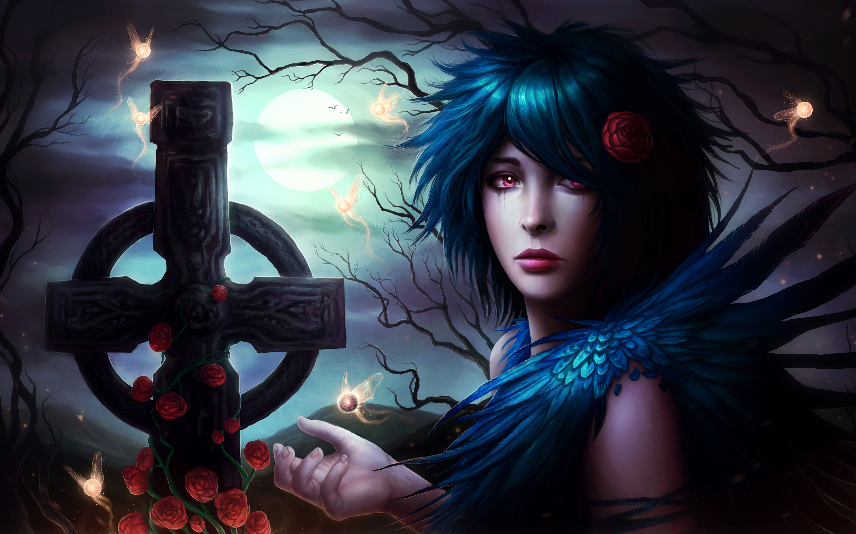 Gothic Art Fantasy Girl HD Wallpaper on MobDecor