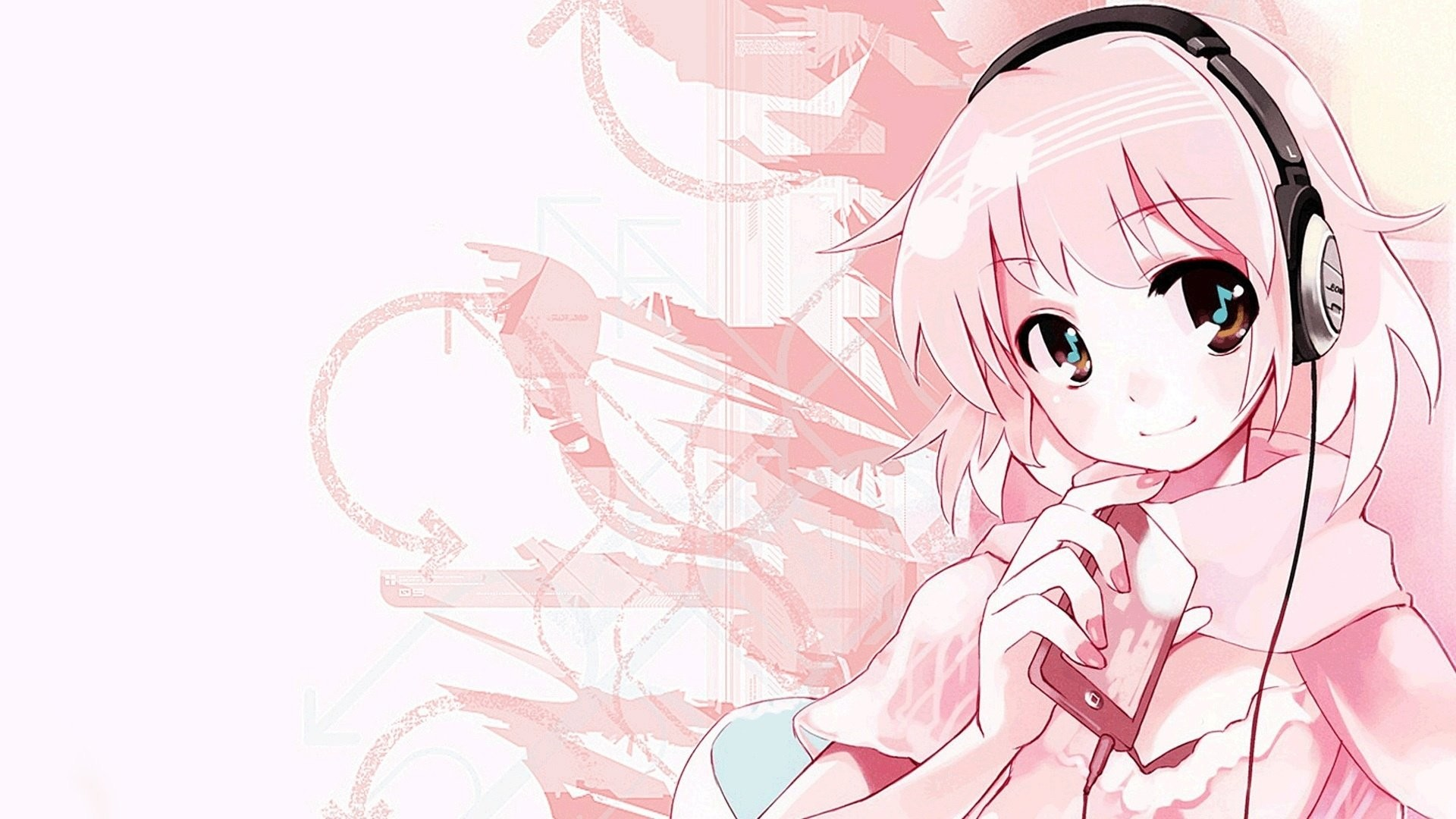 Anime Girl Headphones 589014