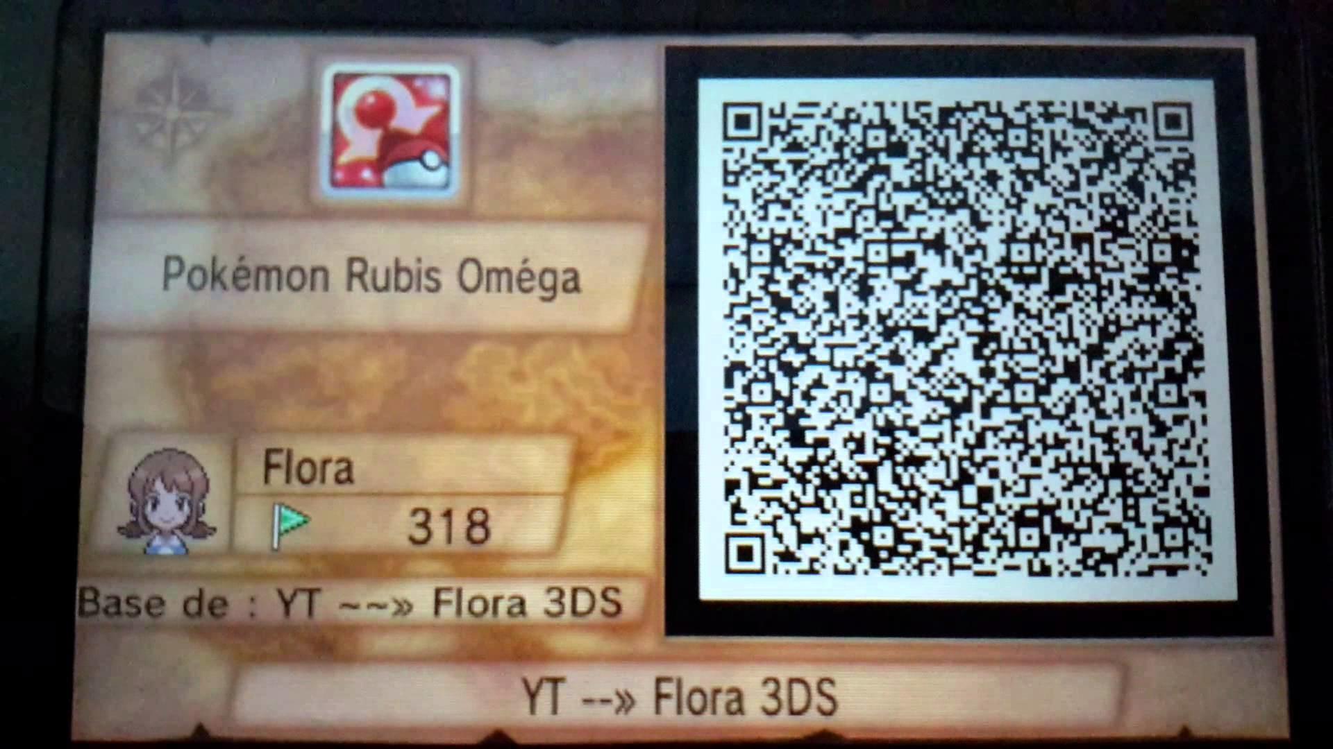 [Pokemon Rubis Omega]: QR Code de ma base. – YouTube