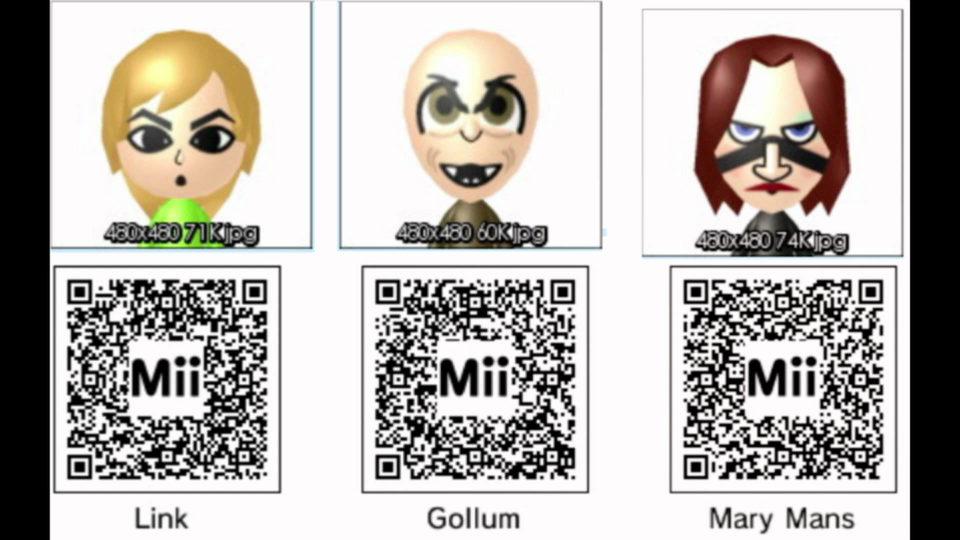 Mii QR Codes for 3DS! Download all these Miis by simply Scanning!! – YouTube