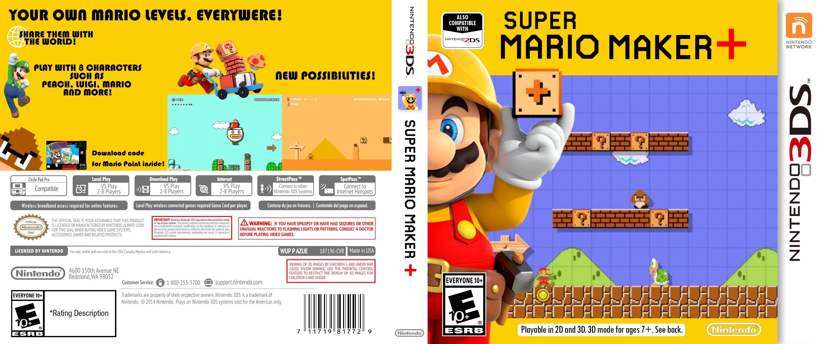 … Super Mario Maker 3DS Box Art by ThePandaK