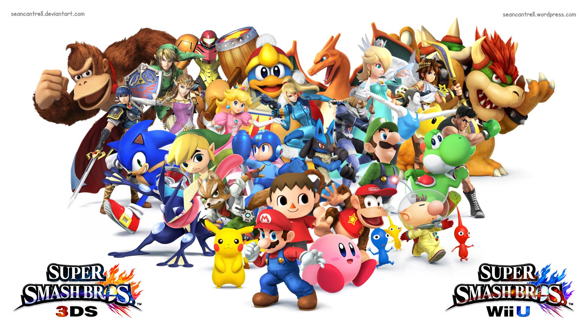 Super Smash Bros Wii U / 3DS Wallpaper by seancantrell on DeviantArt