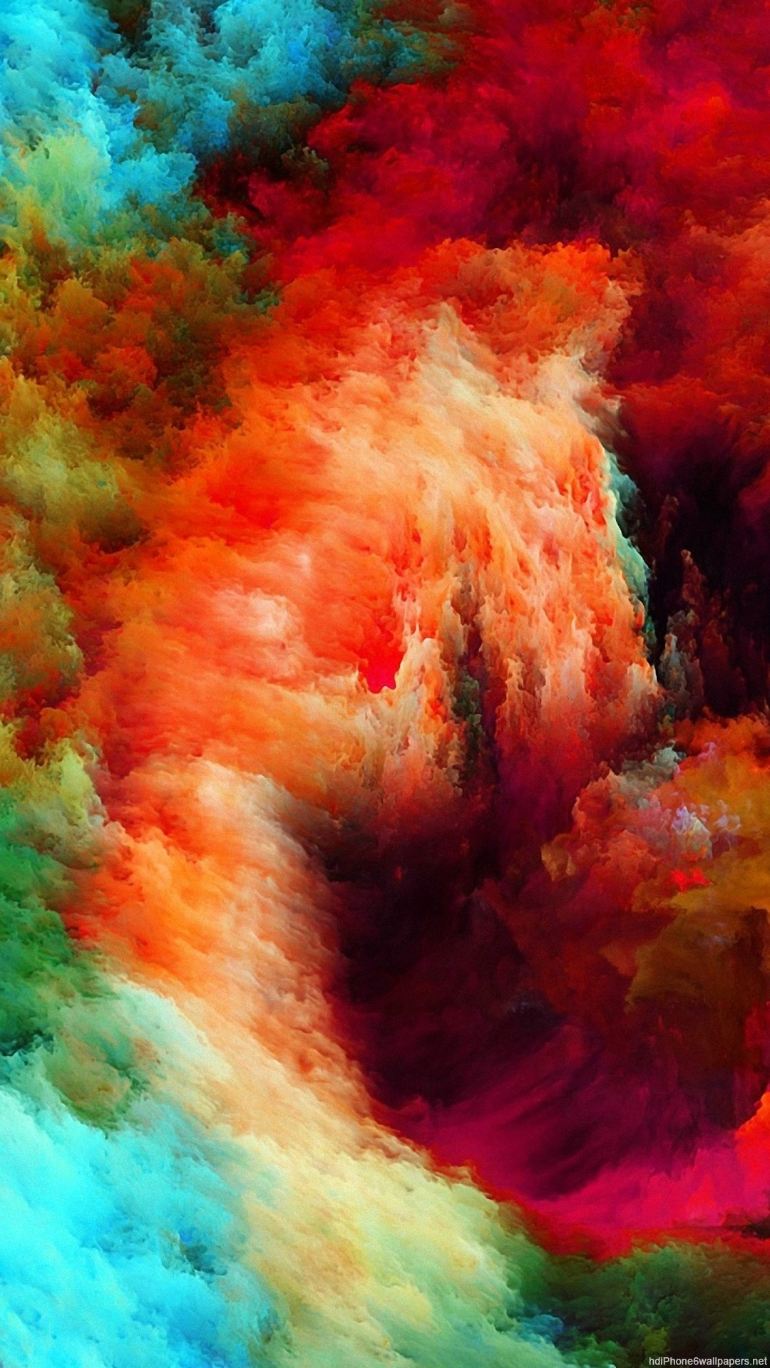 HD colorful abstract iphone 6 wallpaper