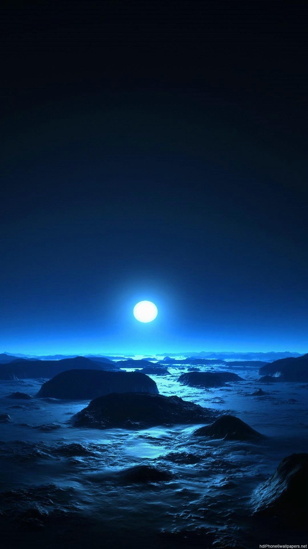 HD cool moon iphone 6 wallpaper