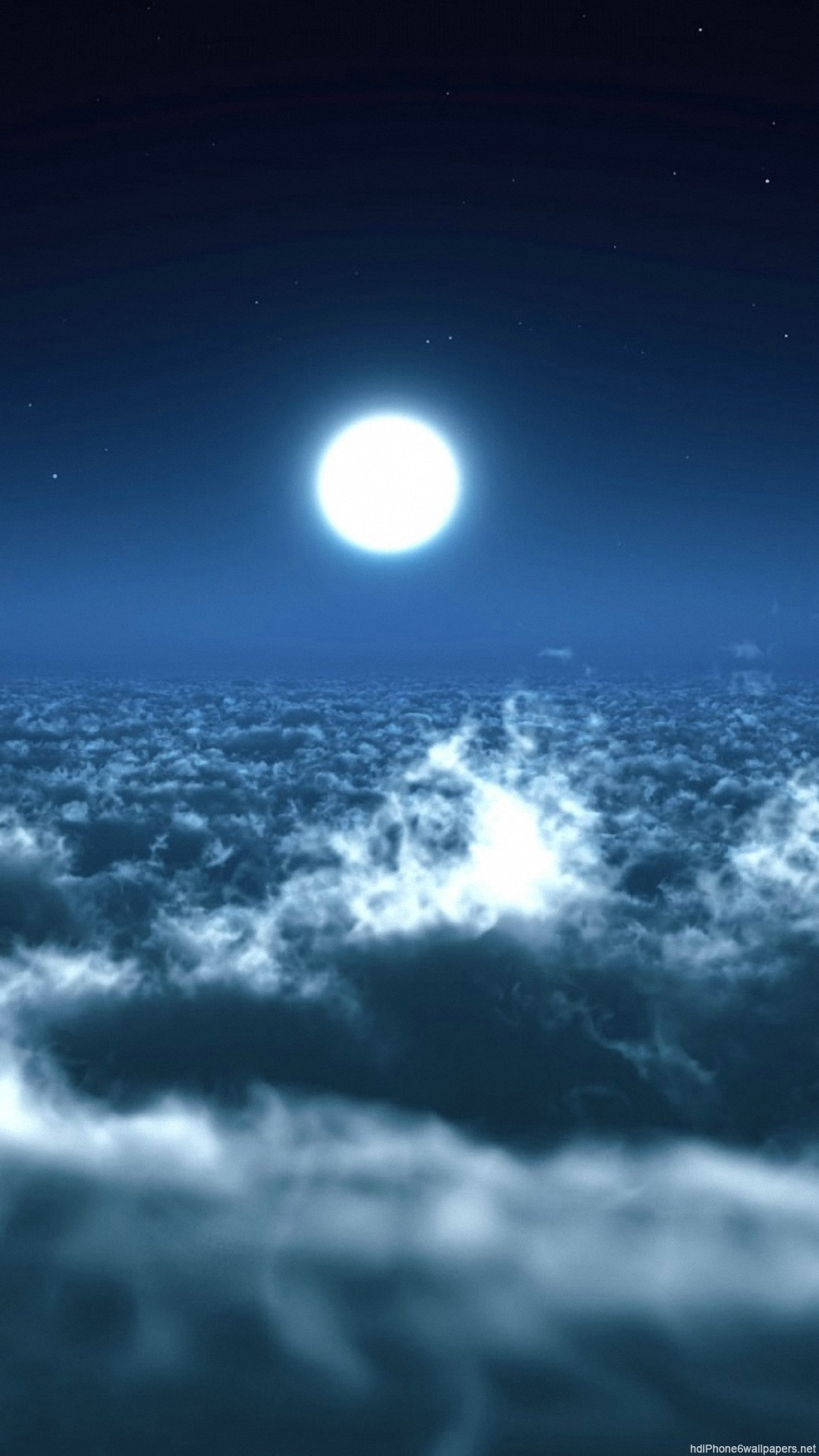 clouds sky moon iPhone 6 wallpapers HD – 6 Plus backgrounds