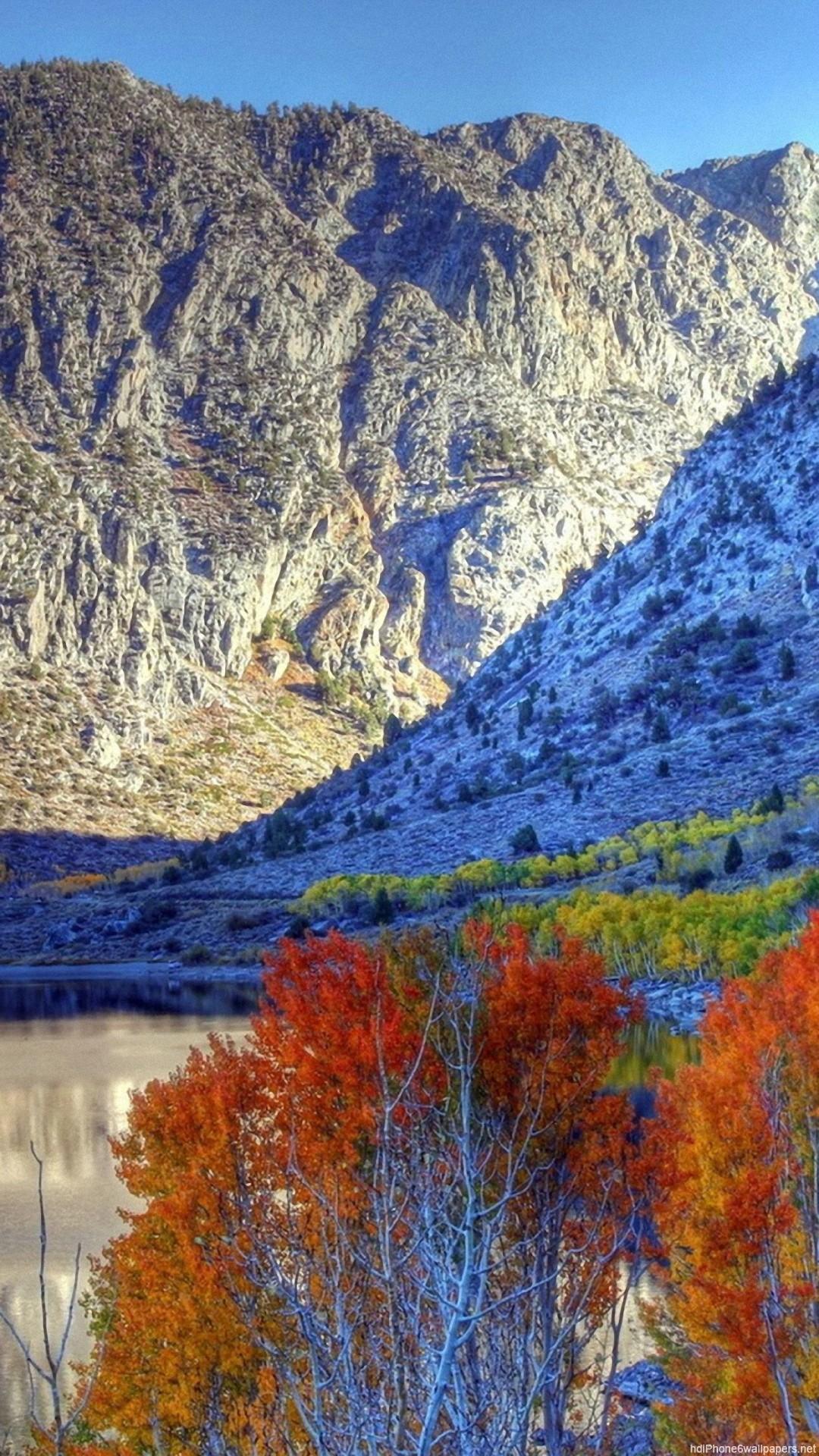 HD mountain autumn nature iphone 6 wallpaper