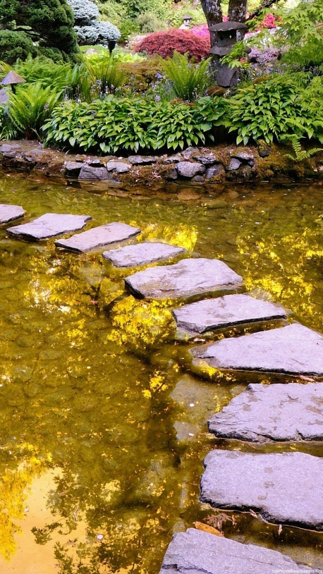 water garden stone iPhone 6 wallpapers HD – 6 Plus backgrounds
