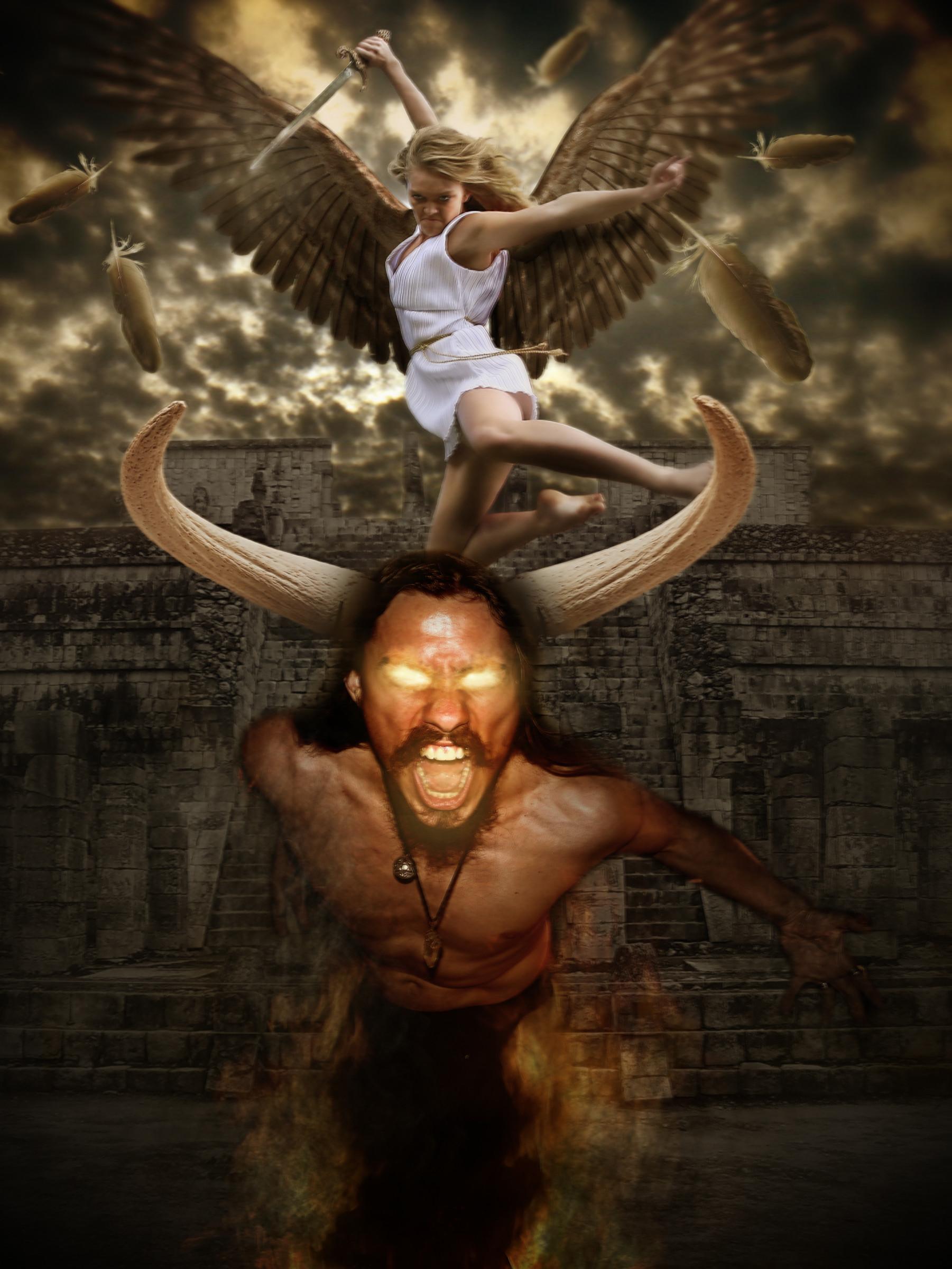 Angel vs Devil by Wolves-PSD on DeviantArt