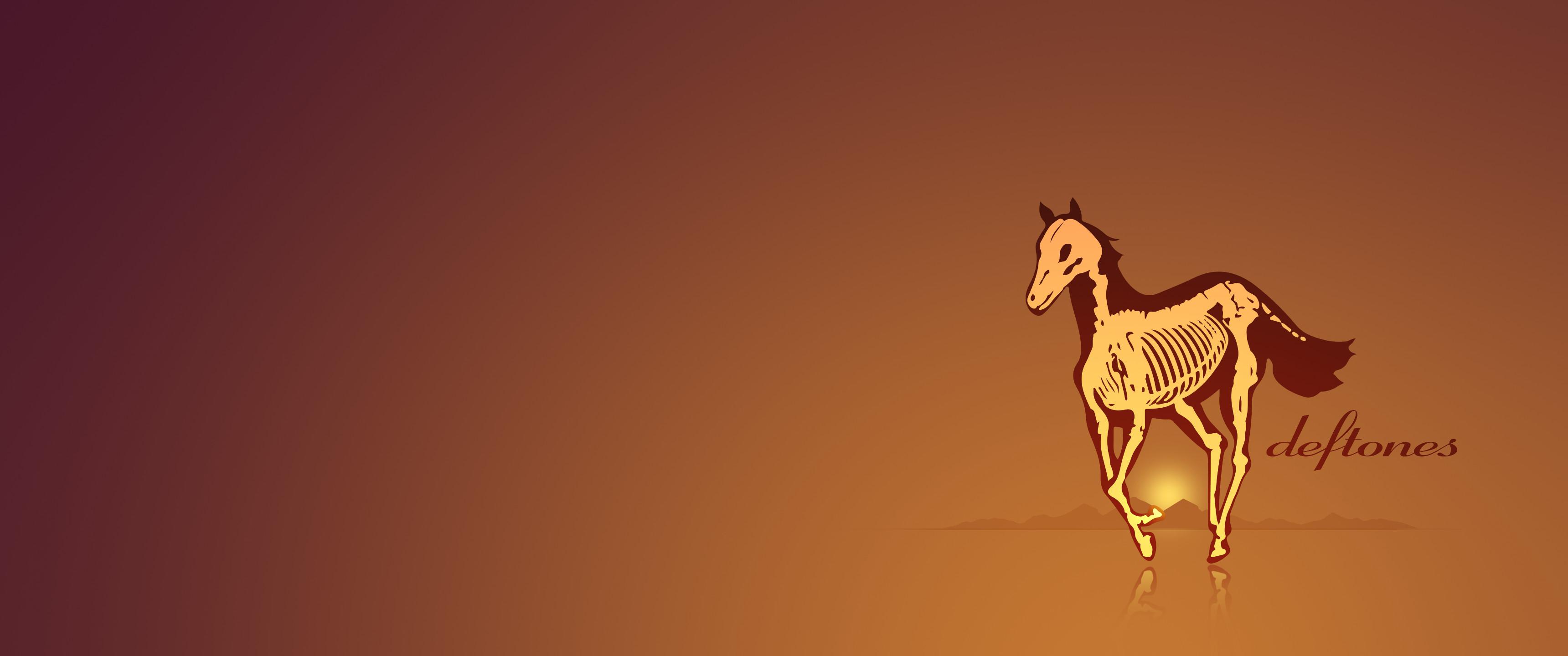 I created this Deftones Skeleton Pony Ultrawide Minimalist Wallpaper. Hope  you dig it!