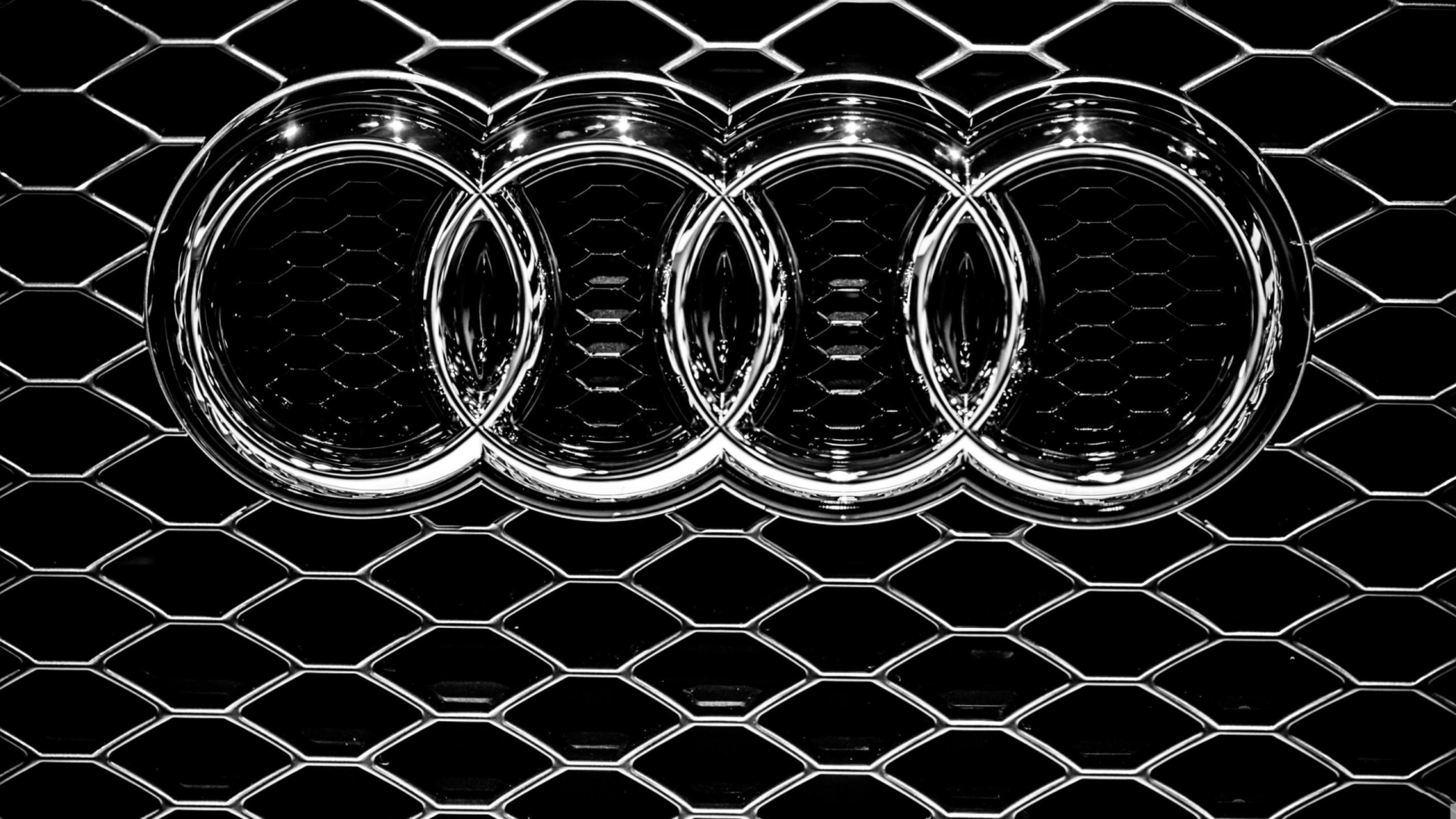 Audi Logo Wallpaper HD background.