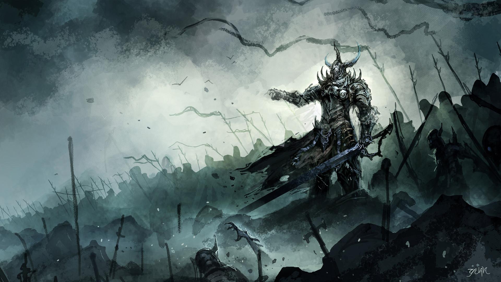 Armor Artwork Battles Fantasy Art Horde Horns Swords Warriors Weapons