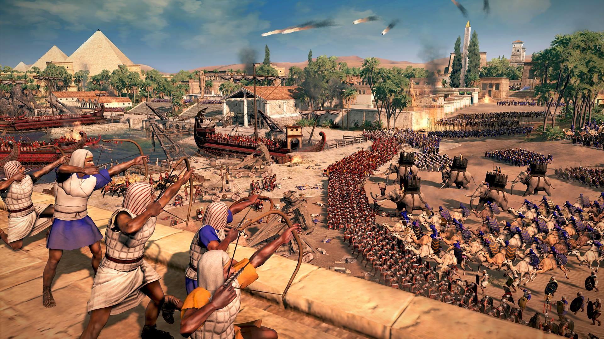 Roman Legion against Ptolemaic Egyptian Army