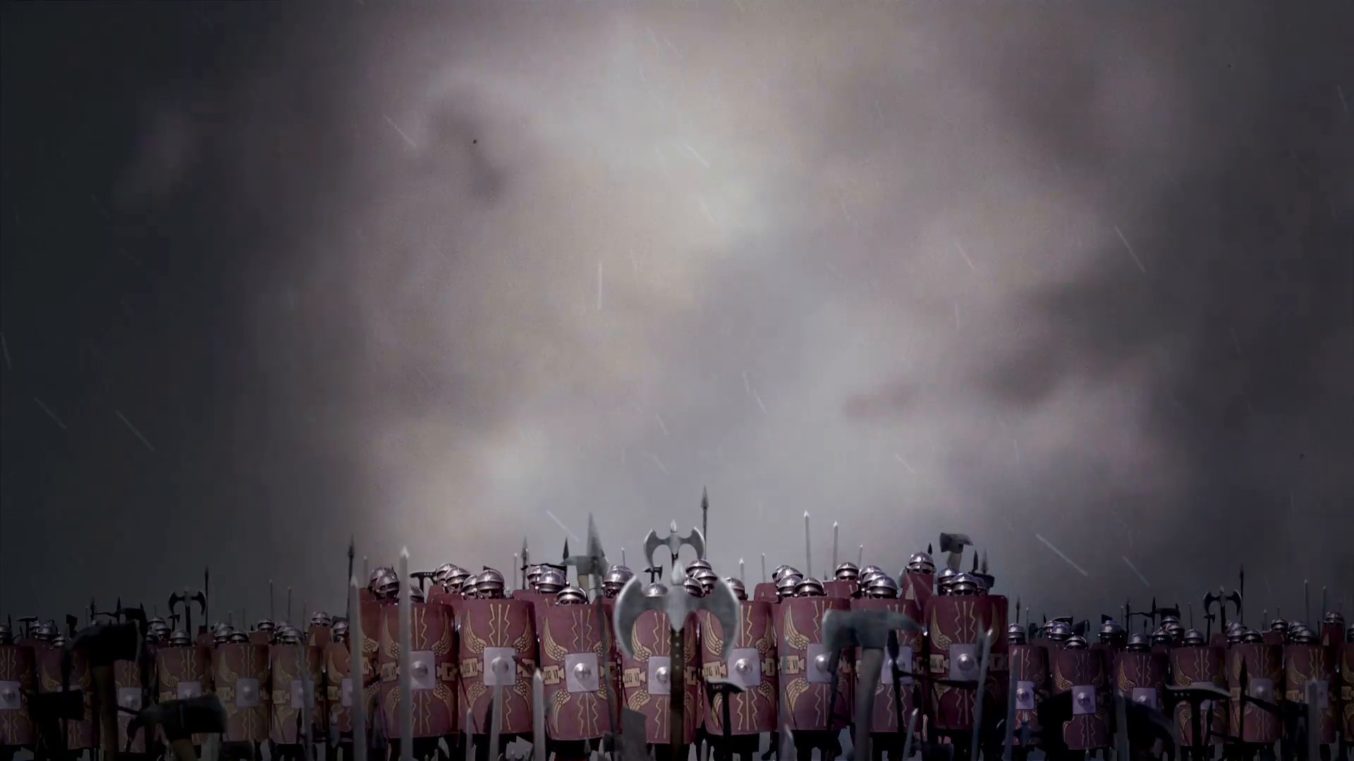 Roman Legion Battle Formations Standing In Front of an Army Before Battle  Under a Storm Motion Background – VideoBlocks