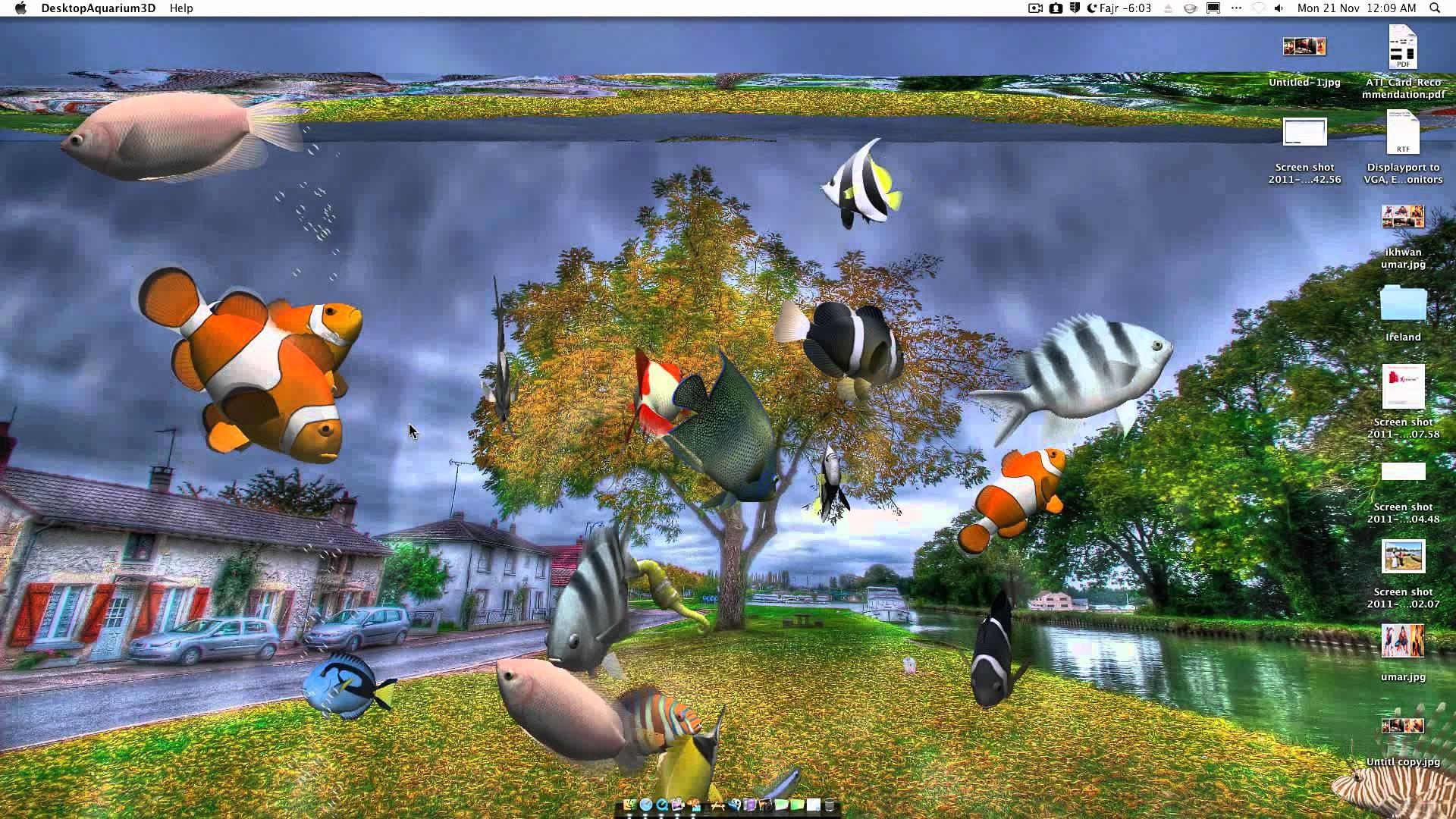 Desktop Aquarium 3D Live Wallpaper on Imac – YouTube