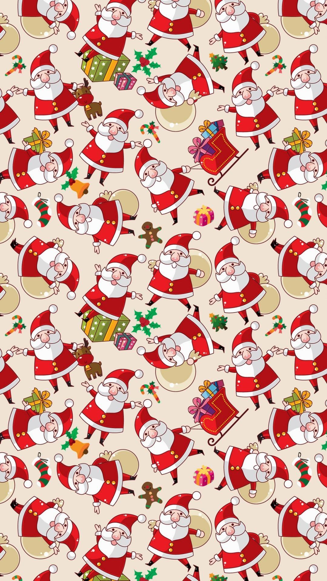wallpaper.wiki-Santa-Claus-Pattern-Texture-Background-iphone-