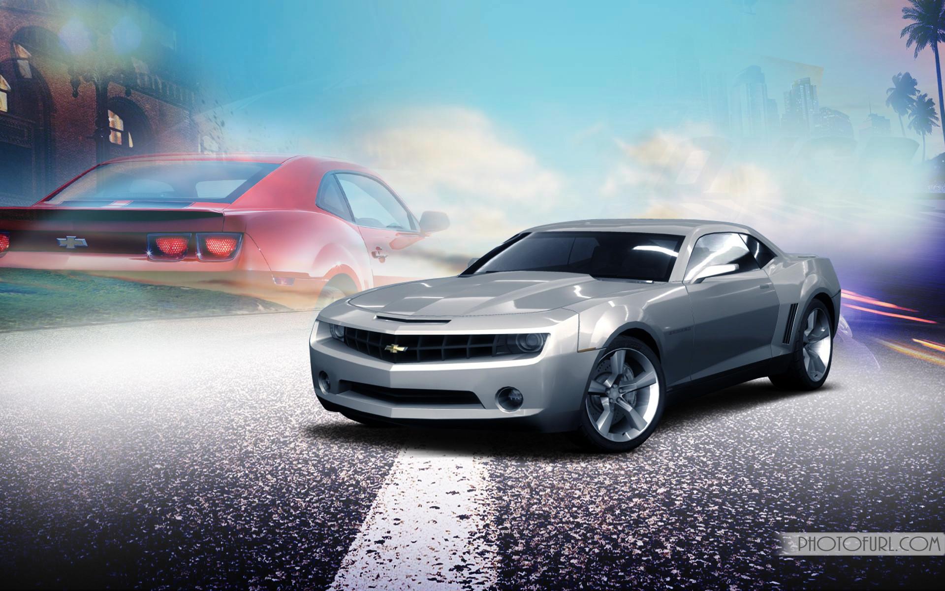 free camaro screensavers wallpapers desktop themes | Camaro Car in Animated  Style Wallpaper | Free Wallpapers