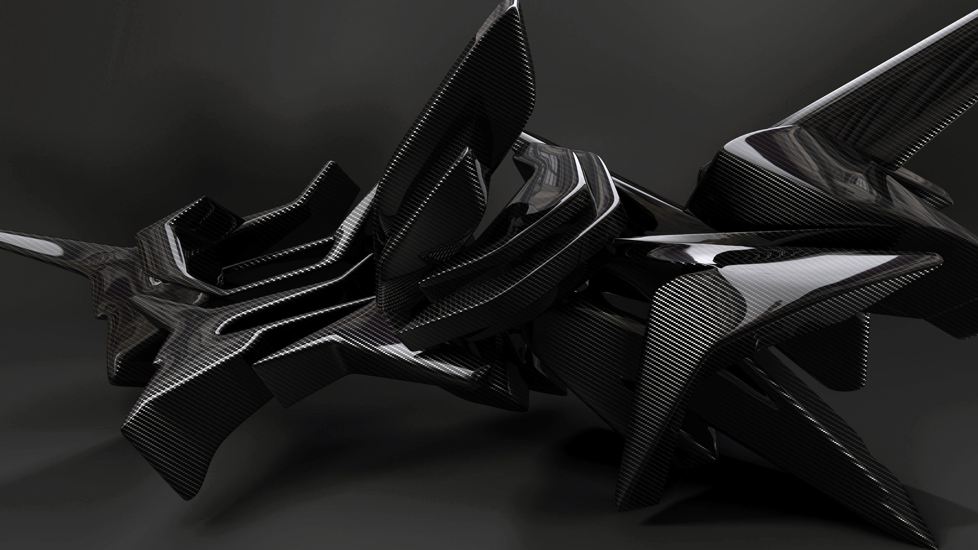 3D Carbon Element wallpaper