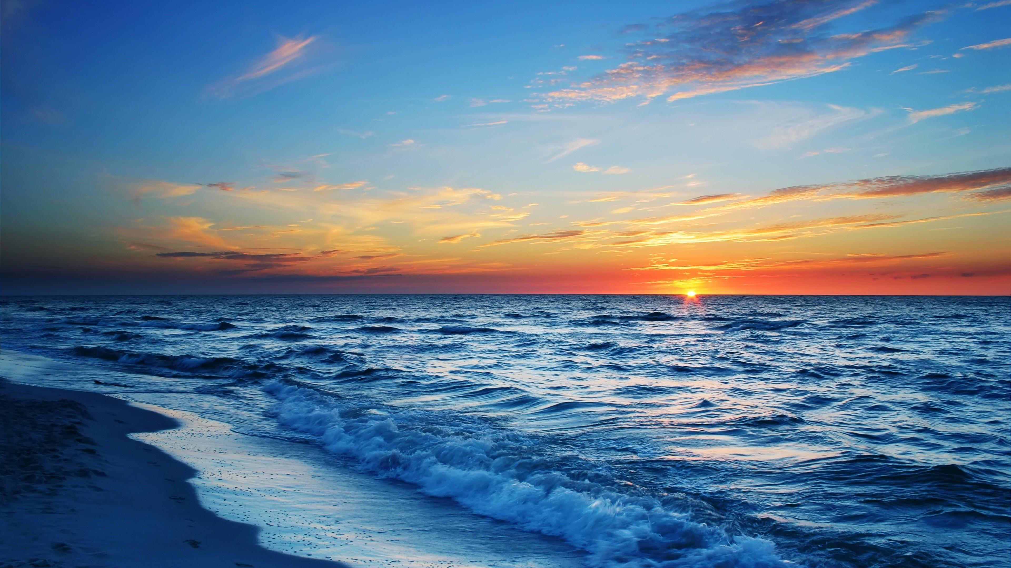 … Background 4K Ultra HD. Wallpaper sea, beach, evening, sun,  sunset