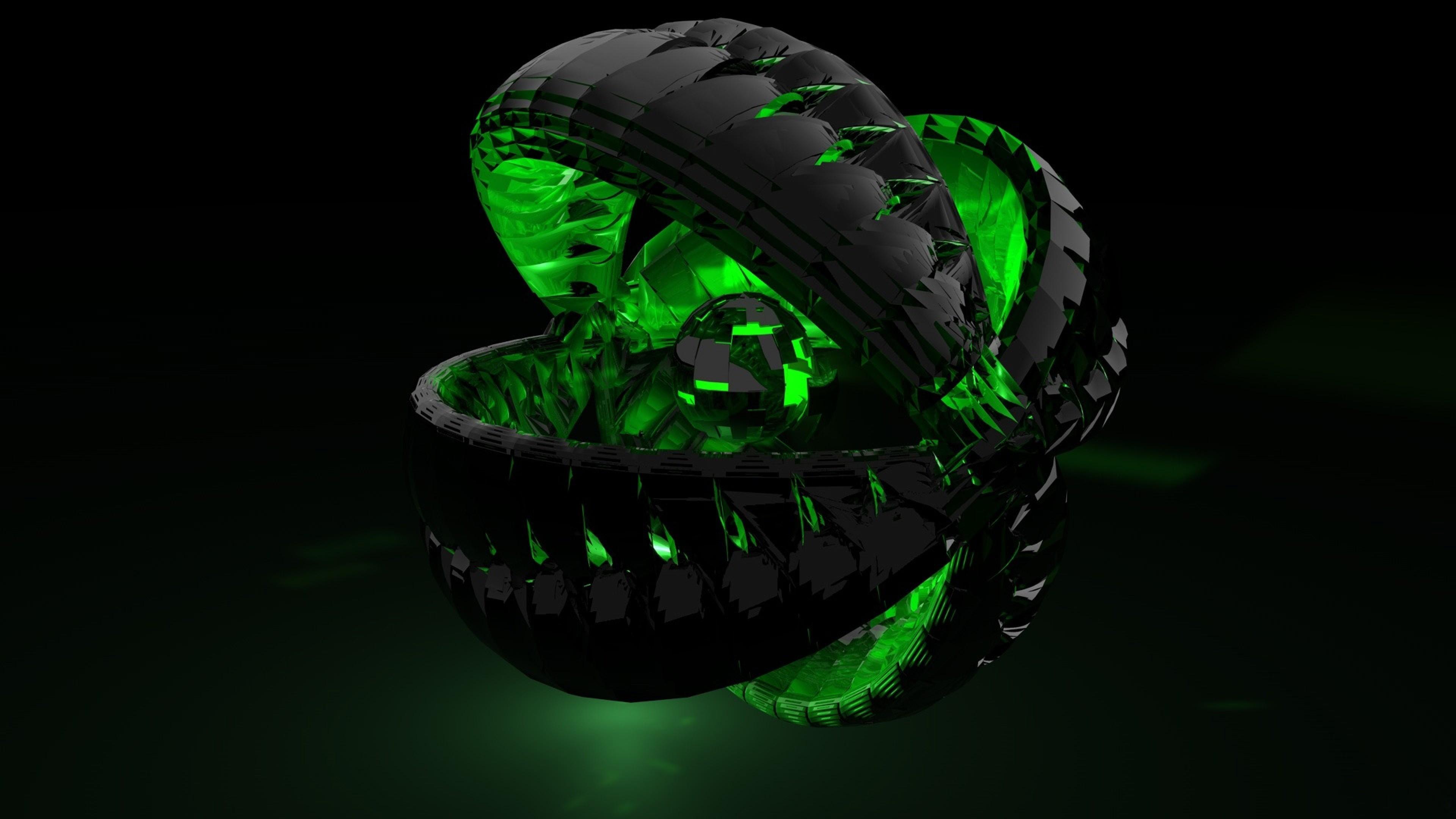 … Background 4K Ultra HD. Wallpaper form, green, shadow, dark