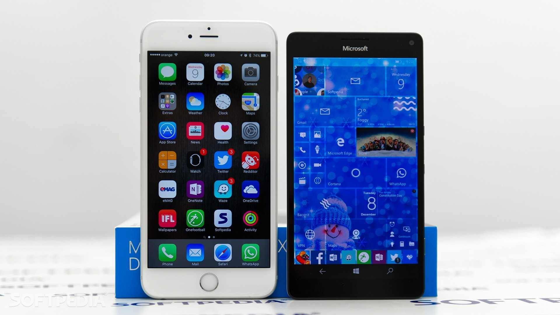 Apple's iPhone 6s Plus and the Lumia 950 XL …