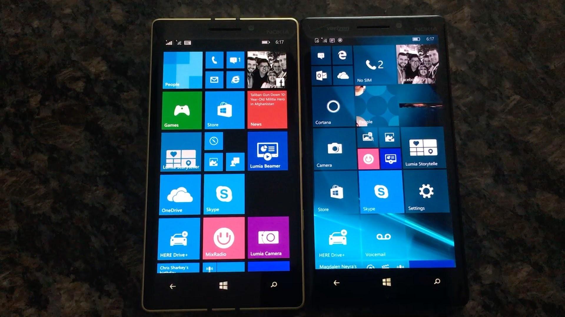 Windows 10 Mobile 10586.71 vs Windows Phone 8.1 Speed Test
