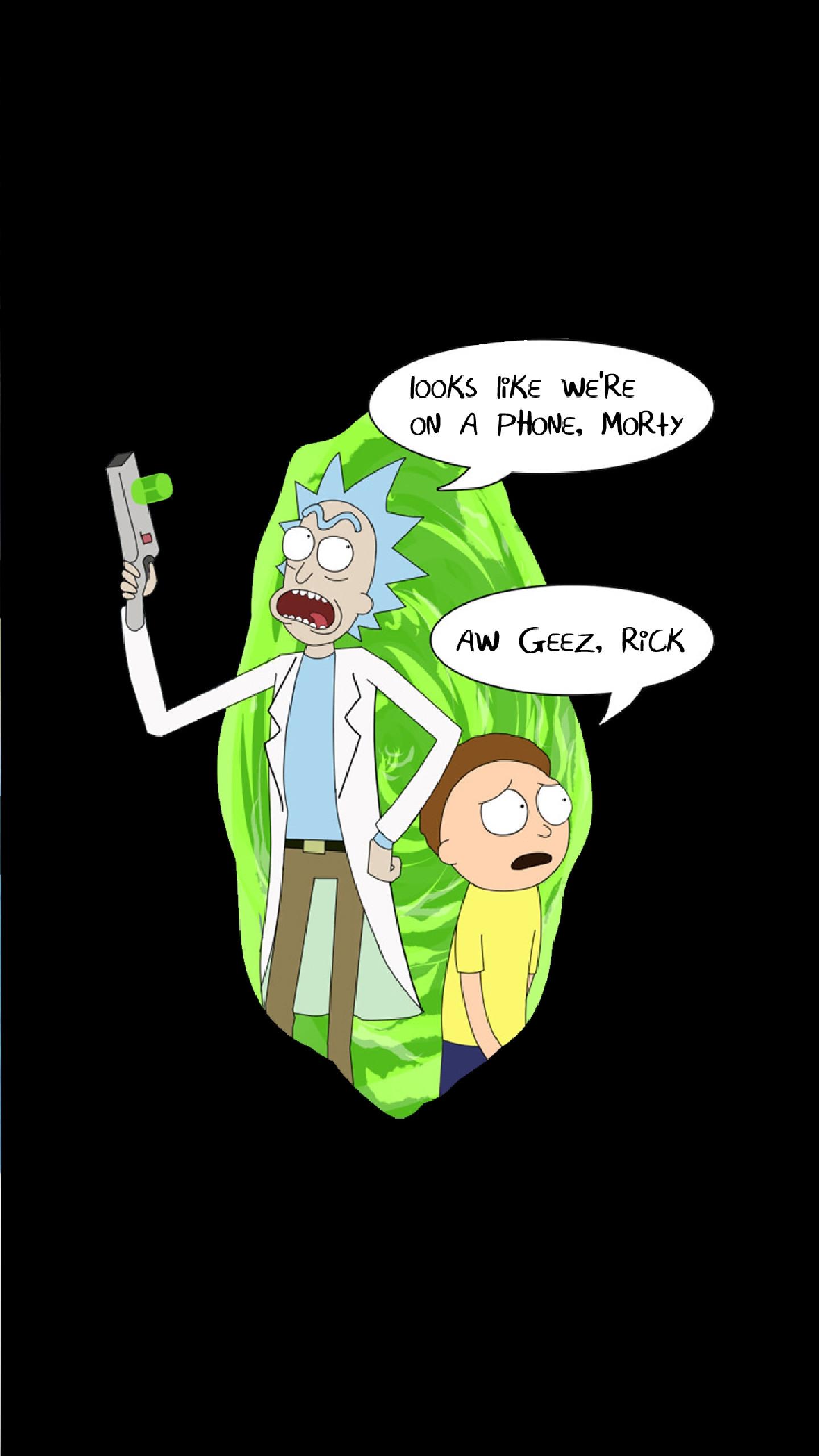 Rick and Morty AMOLED Wallpaper HQ …