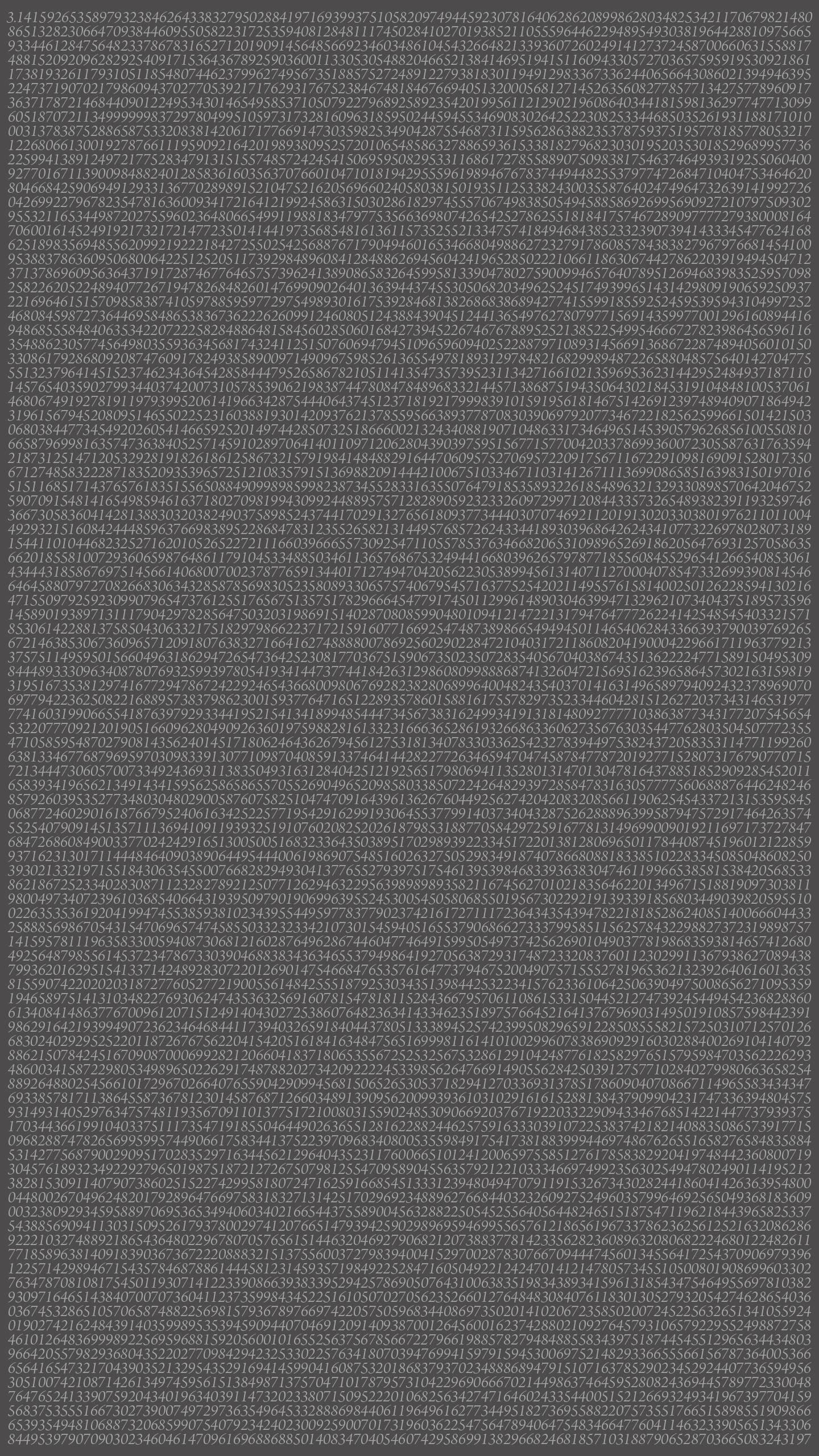 Simplistic phone wallpaper I made… Pi to 10807 digits. [1440×2560]